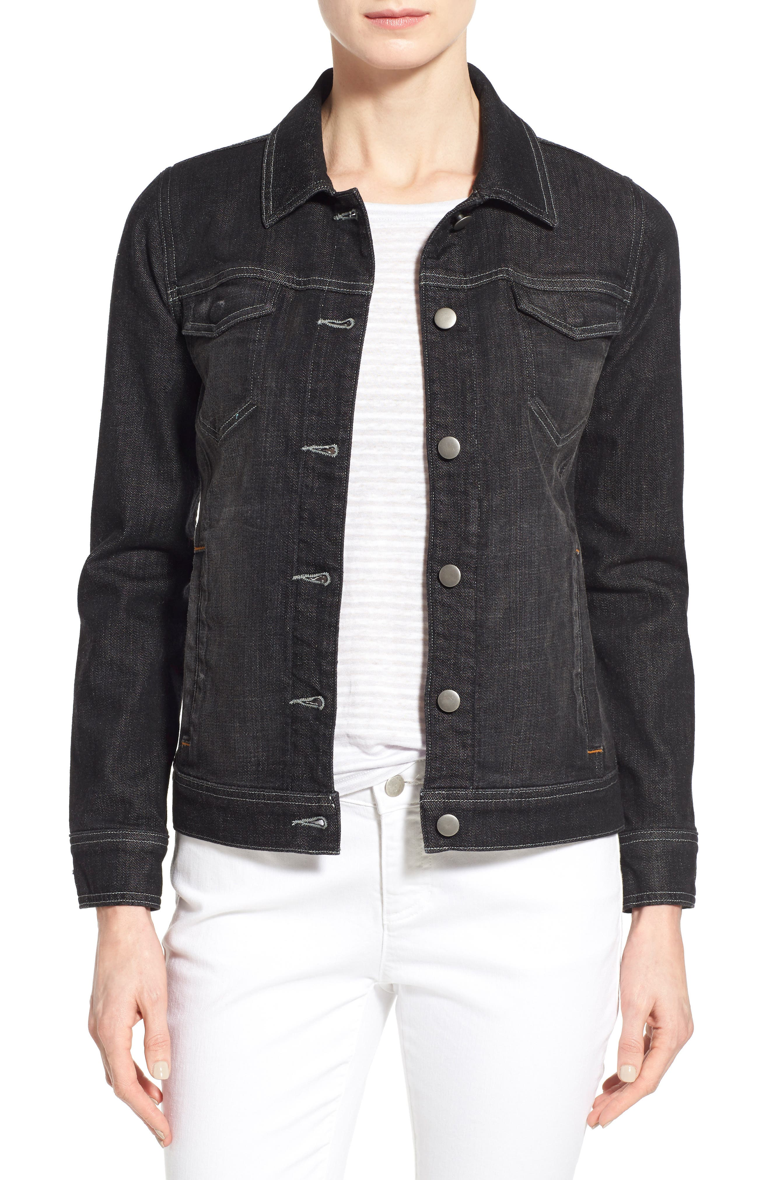 Denim Classic Collar Jacket,                             Main thumbnail 1, color,                             007