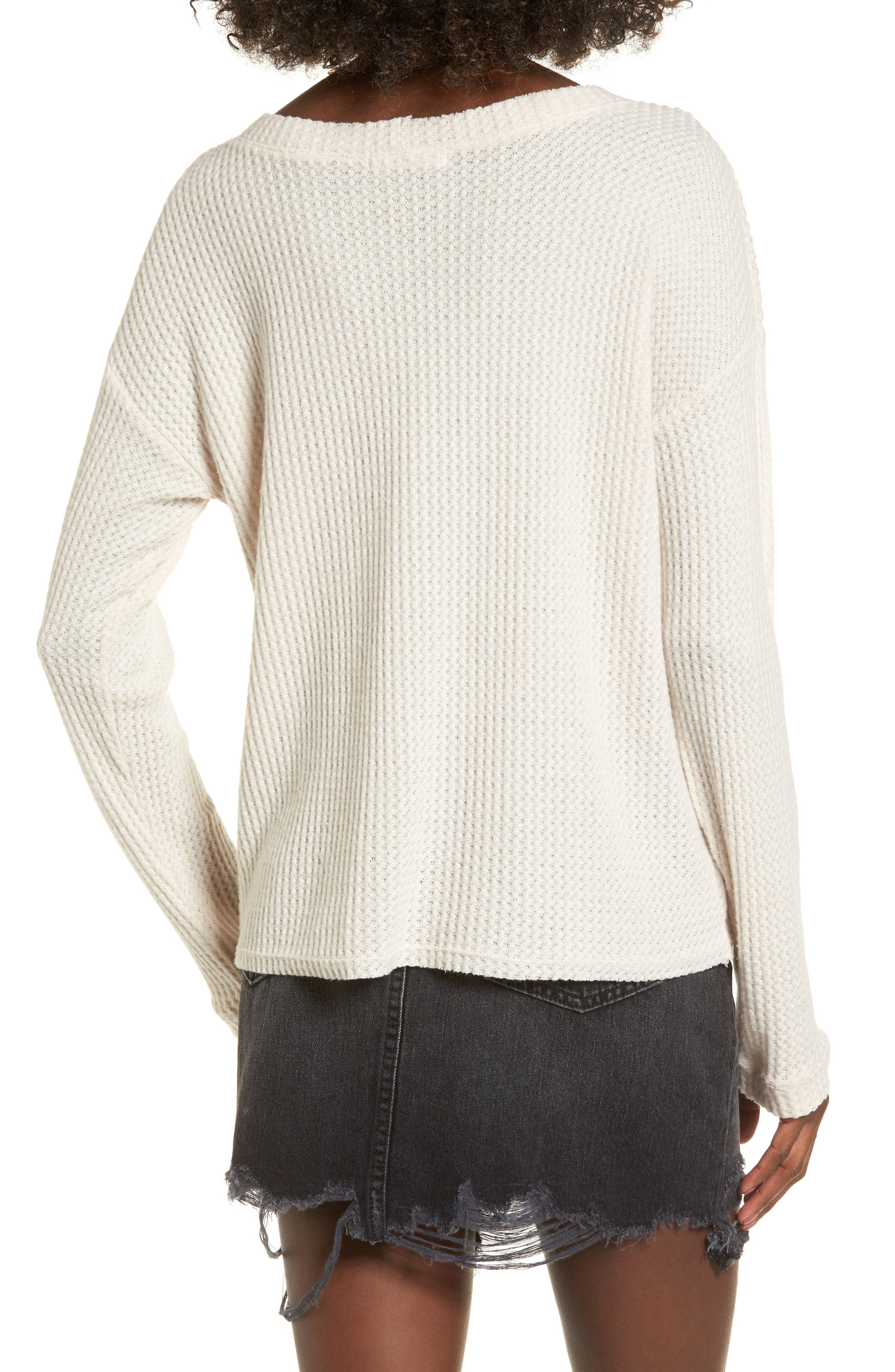 Waffle Knit Top,                             Alternate thumbnail 7, color,