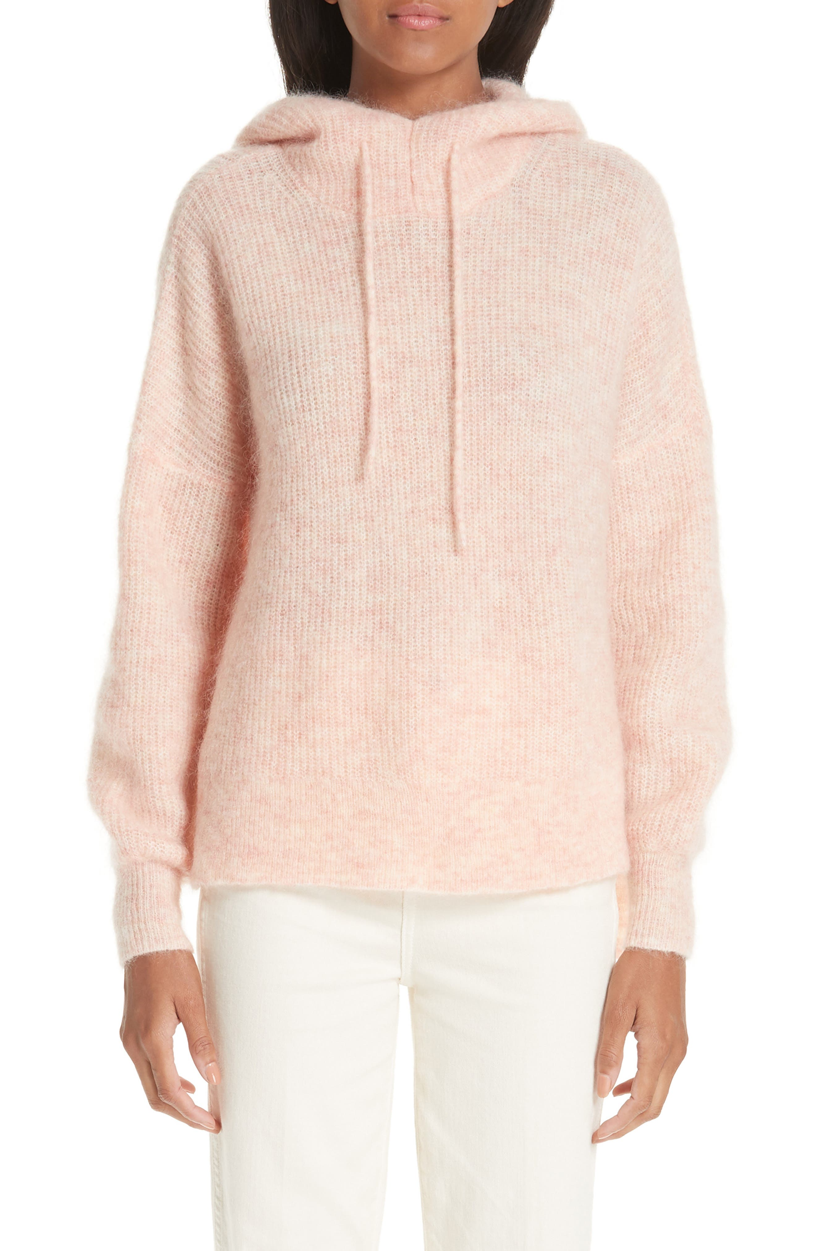 Soft Wool Blend Hoodie,                             Main thumbnail 1, color,                             SILVER PINK 499
