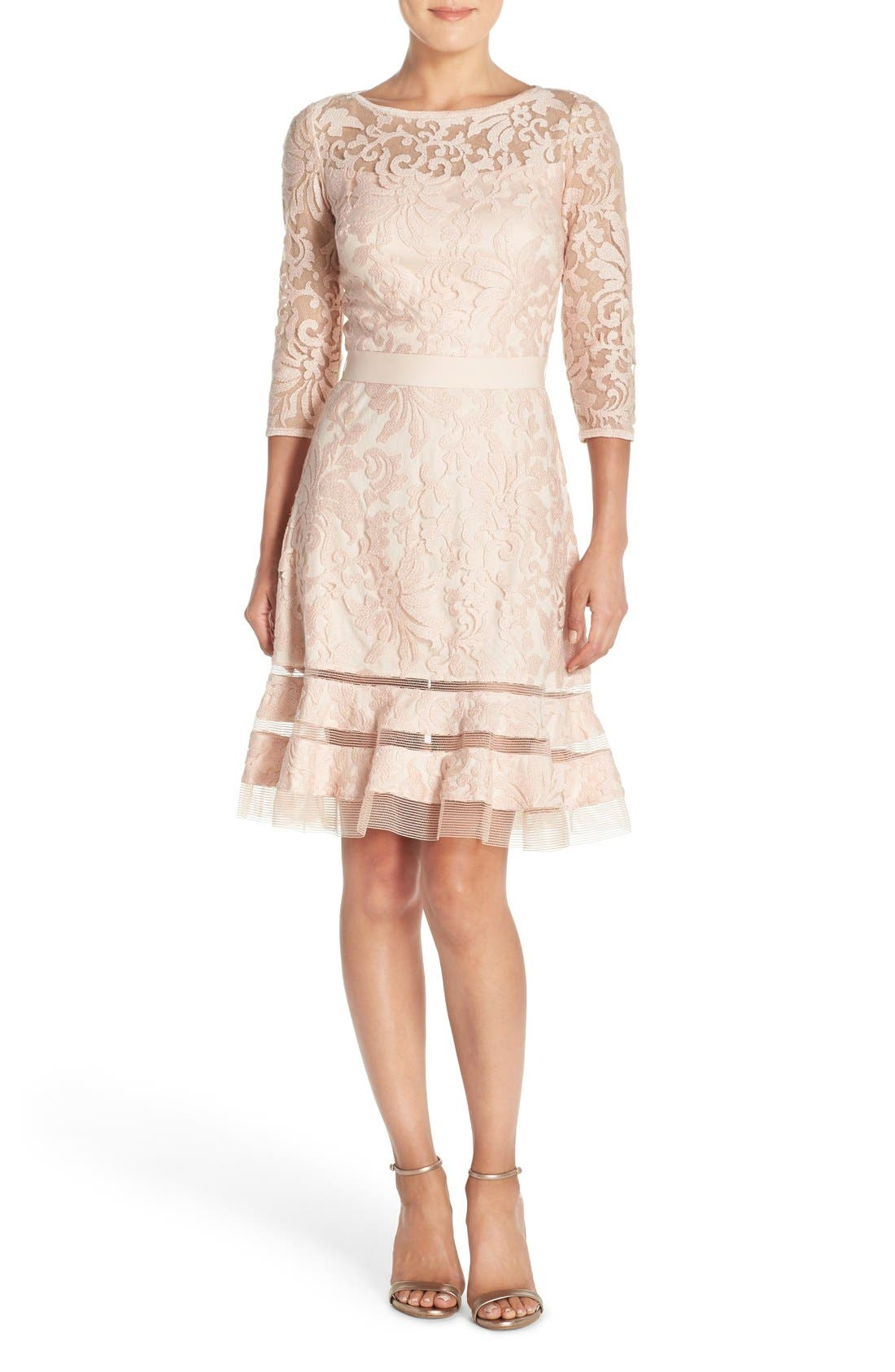 Lace Overlay Dress,                             Alternate thumbnail 21, color,