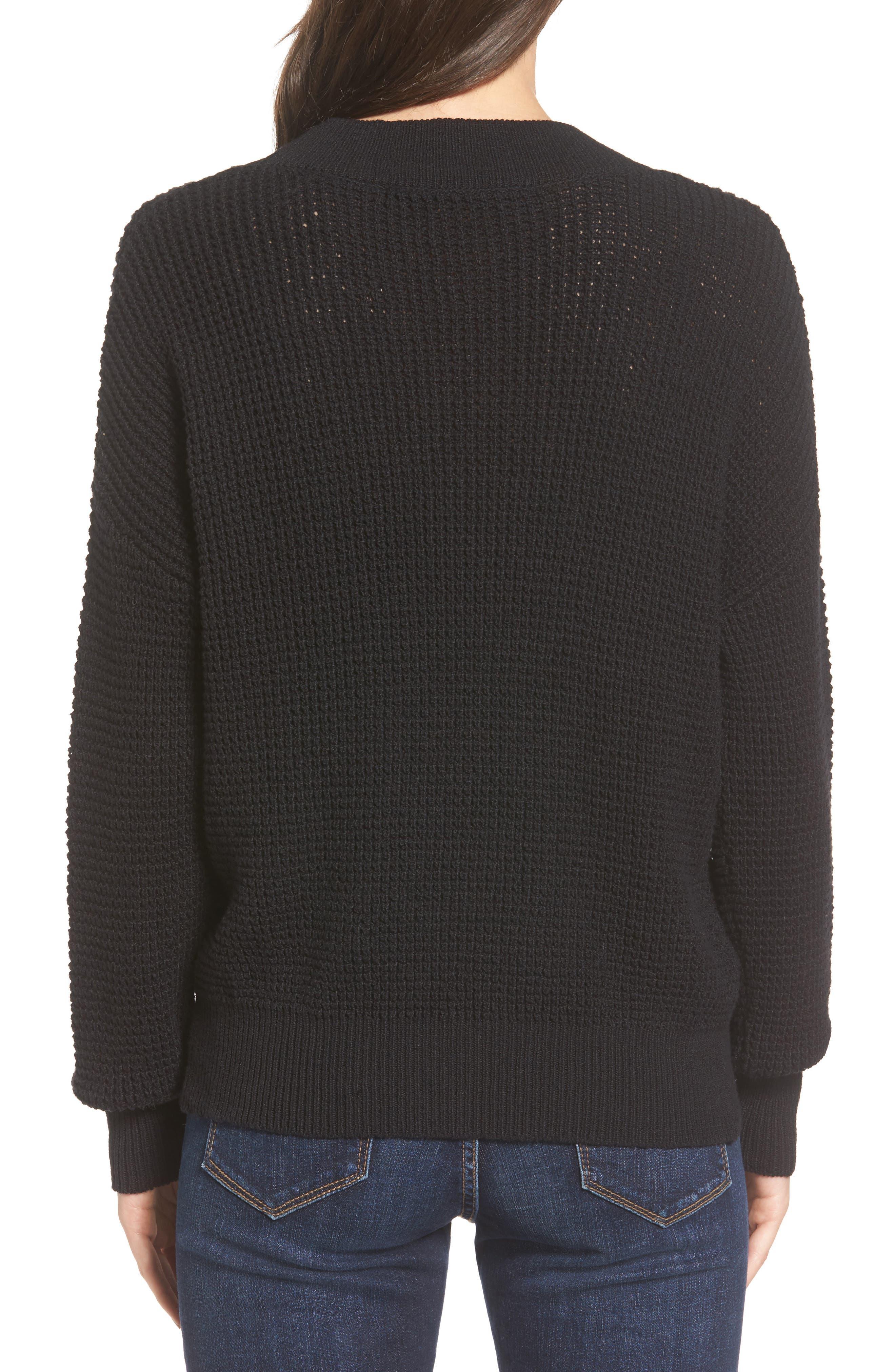 Stephanie Surplice Sweater,                             Alternate thumbnail 2, color,                             001