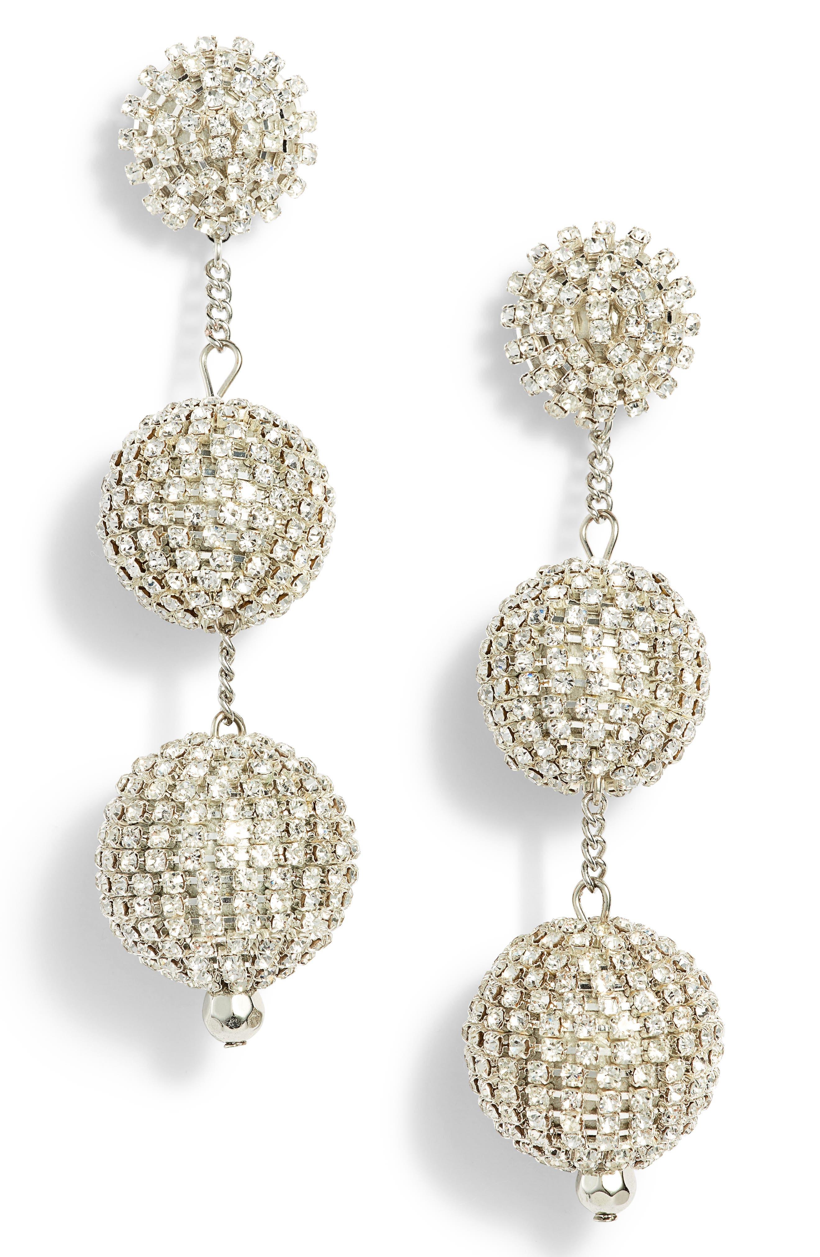 Crystal Ball Drop Earrings,                             Main thumbnail 2, color,