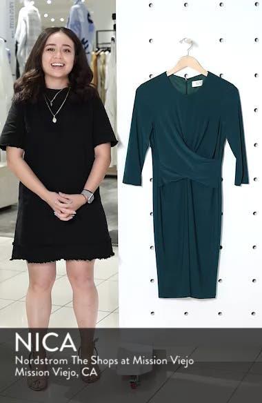 Ruched Jersey Sheath Dress, sales video thumbnail