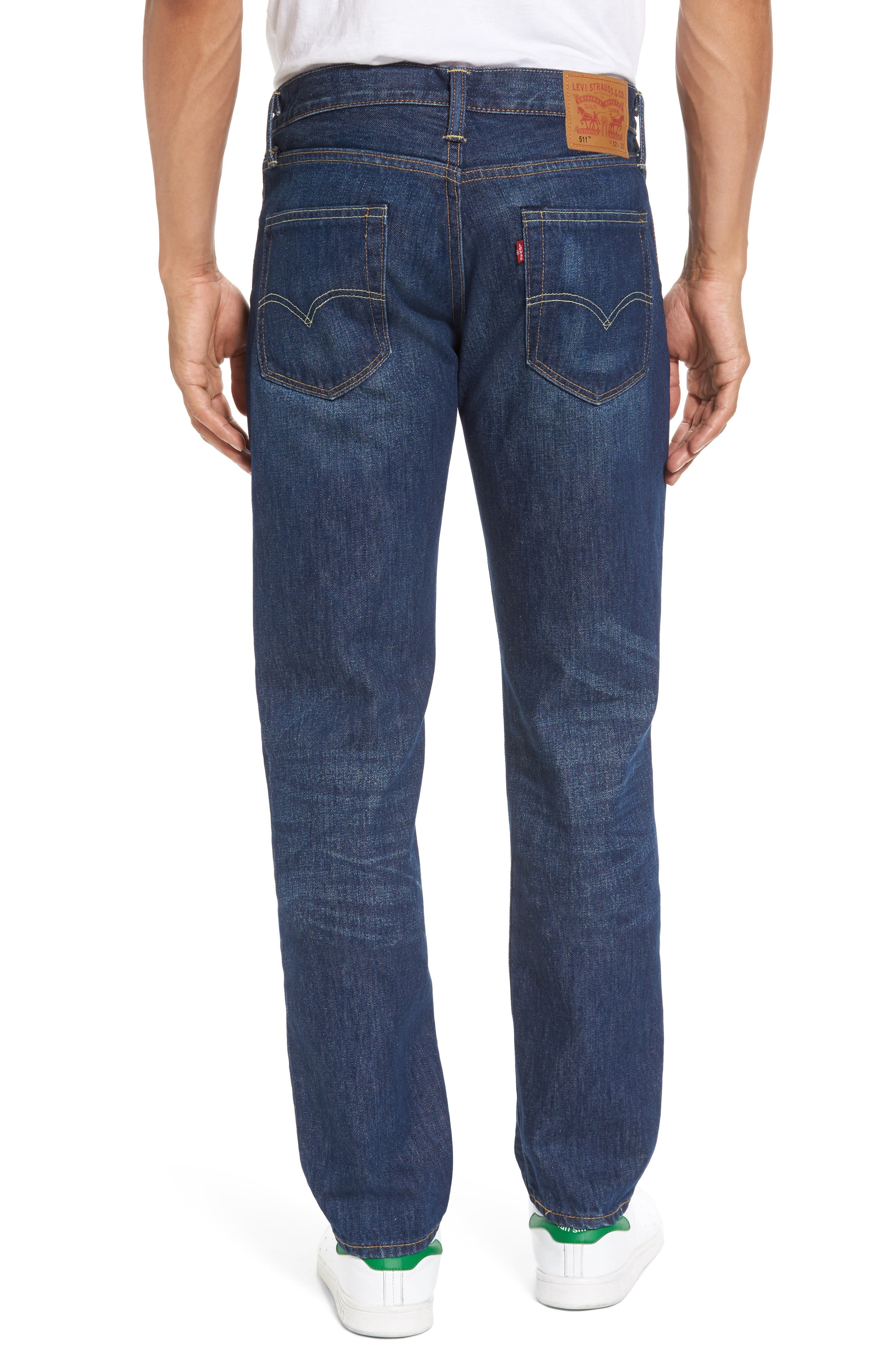 511<sup>™</sup> Slim Fit Jeans,                             Alternate thumbnail 2, color,                             DARK AUTHENTIC
