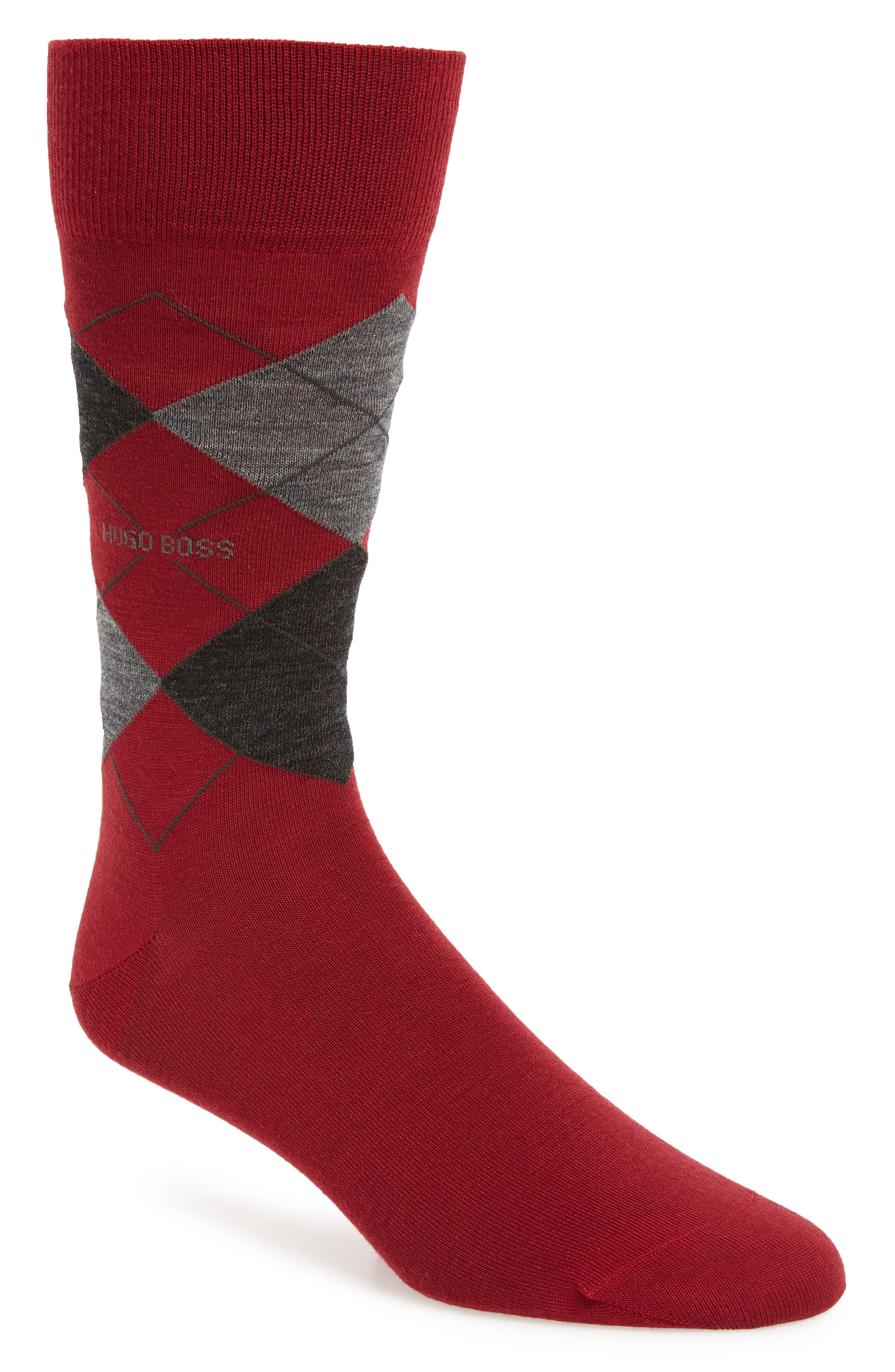 Argyle Socks,                             Main thumbnail 1, color,                             RED
