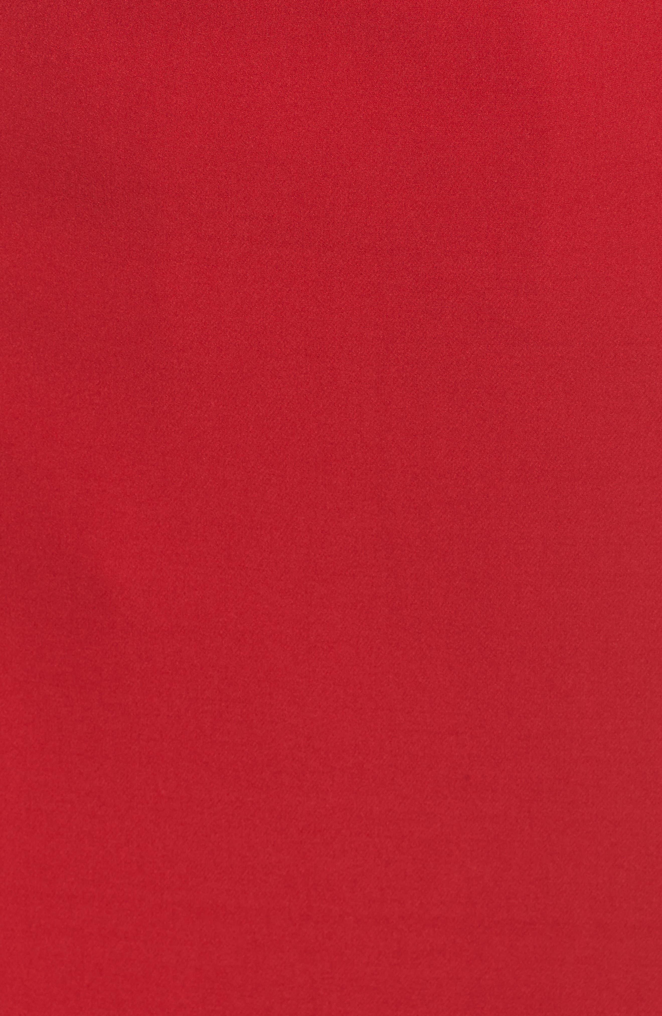 Ruffle Stretch Crepe Sheath Dress,                             Alternate thumbnail 28, color,
