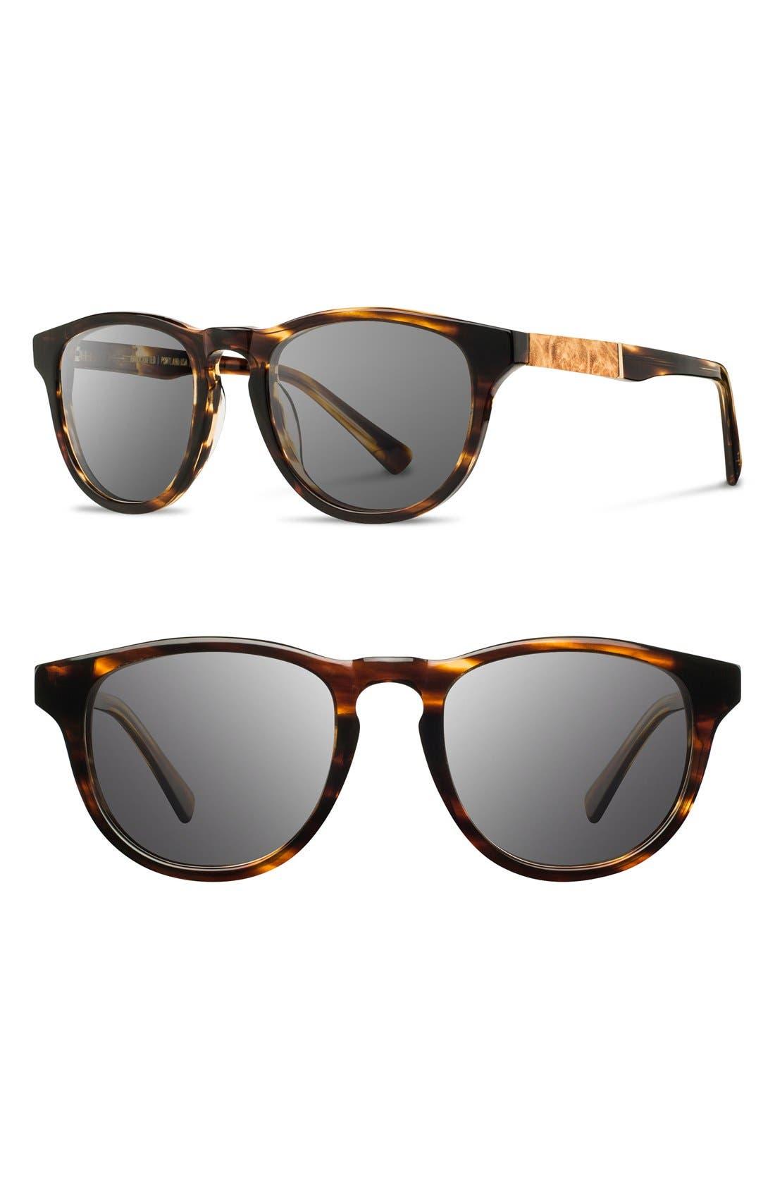 'Francis' 49mm Polarized Sunglasses,                             Main thumbnail 3, color,