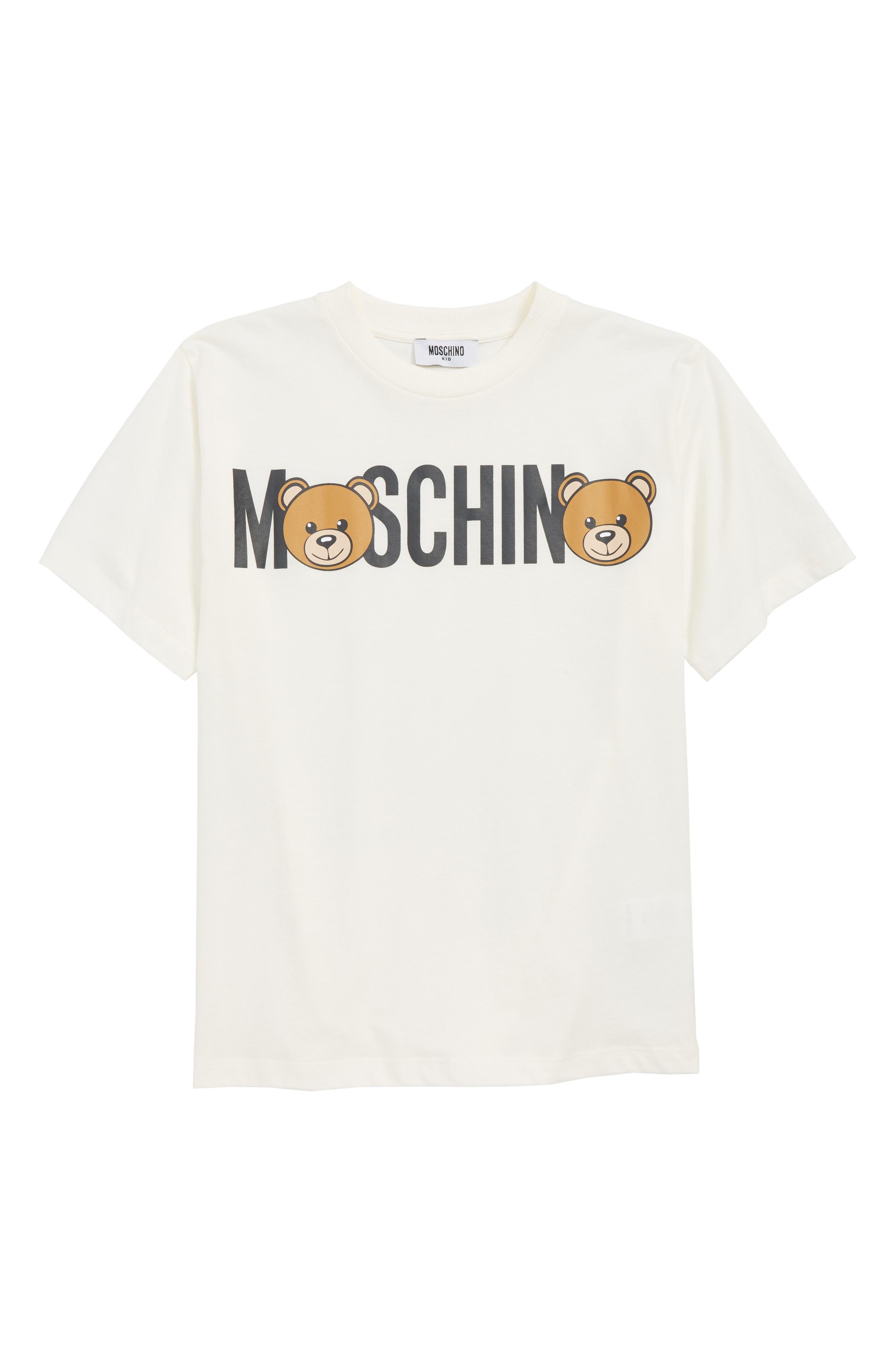 Toddler Moschino Teddy Bear Logo TShirt Size 4Y  White