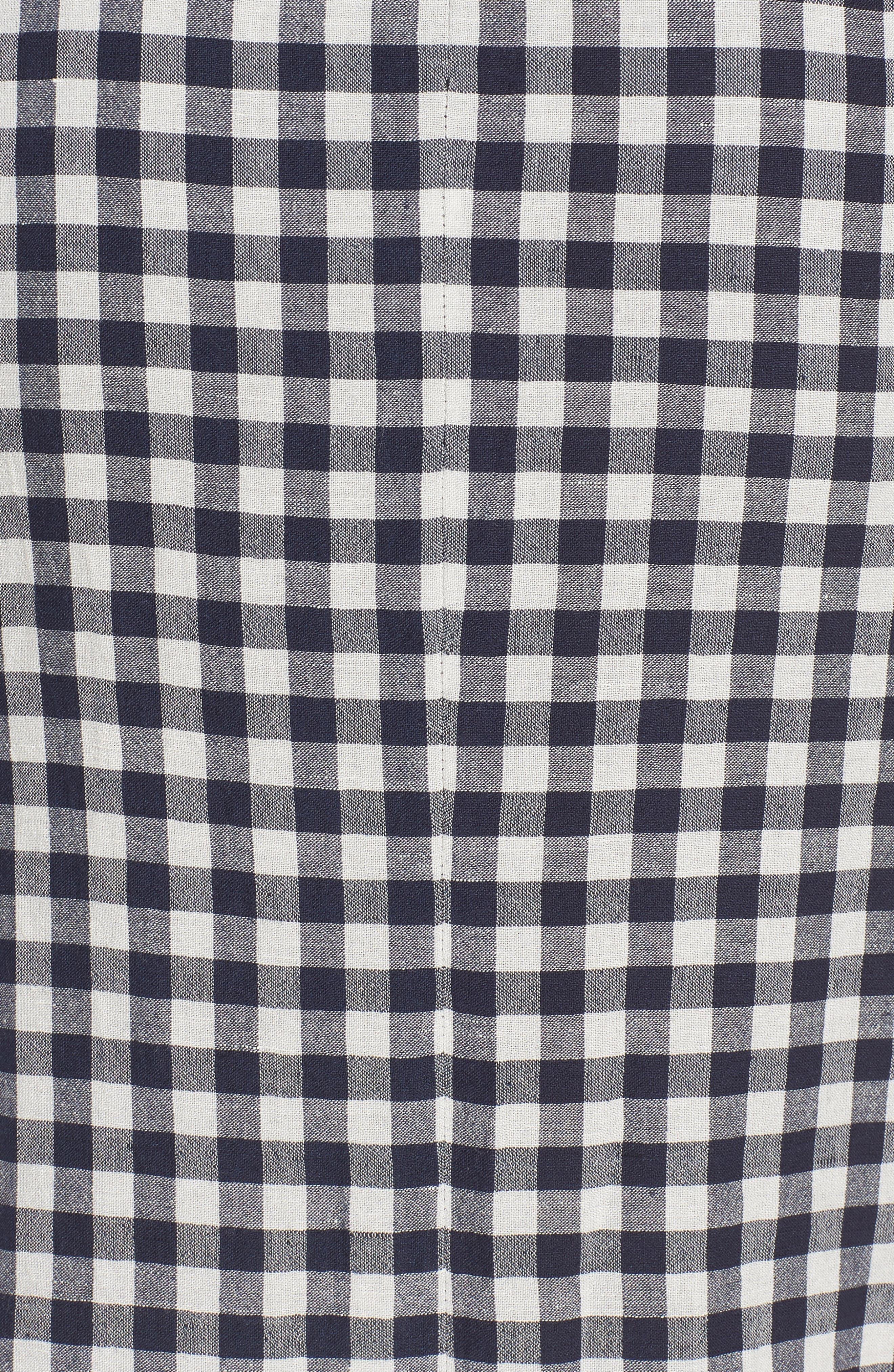 Ruched Front Gingham Skirt,                             Alternate thumbnail 5, color,                             NAVY NIGHT- WHITE CHECK