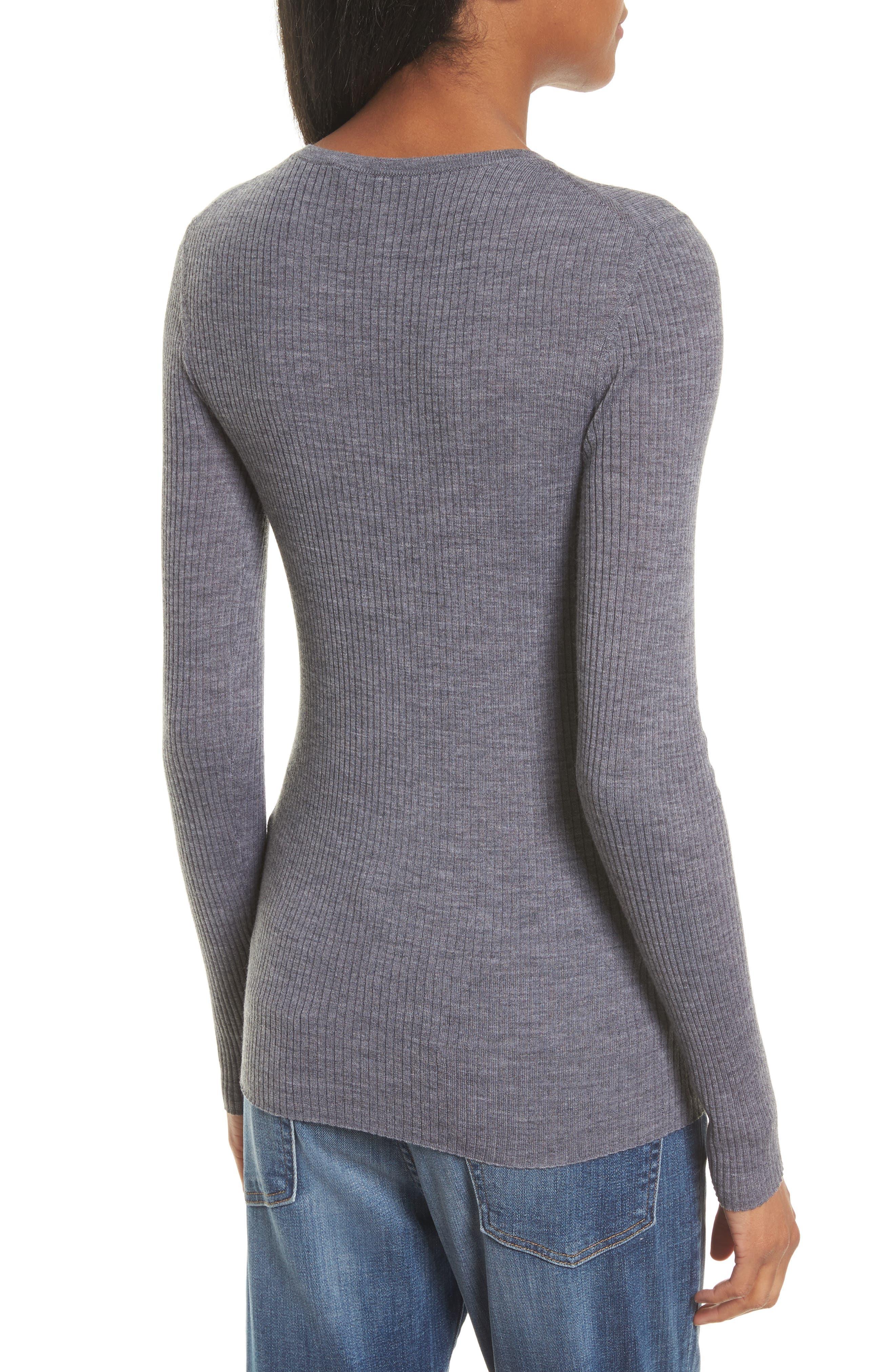Mirzi B Merino Wool Sweater,                             Alternate thumbnail 2, color,                             059