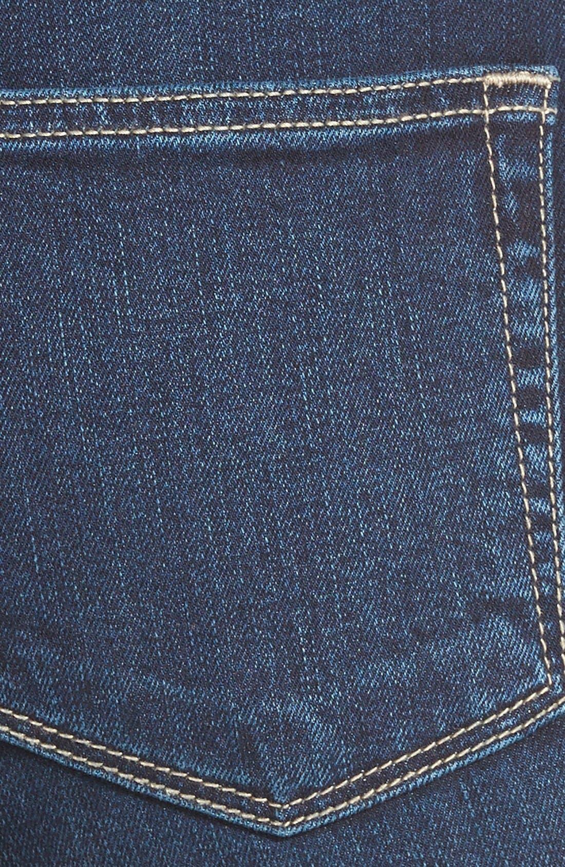High Rise Flare Leg Jeans,                             Alternate thumbnail 3, color,                             400