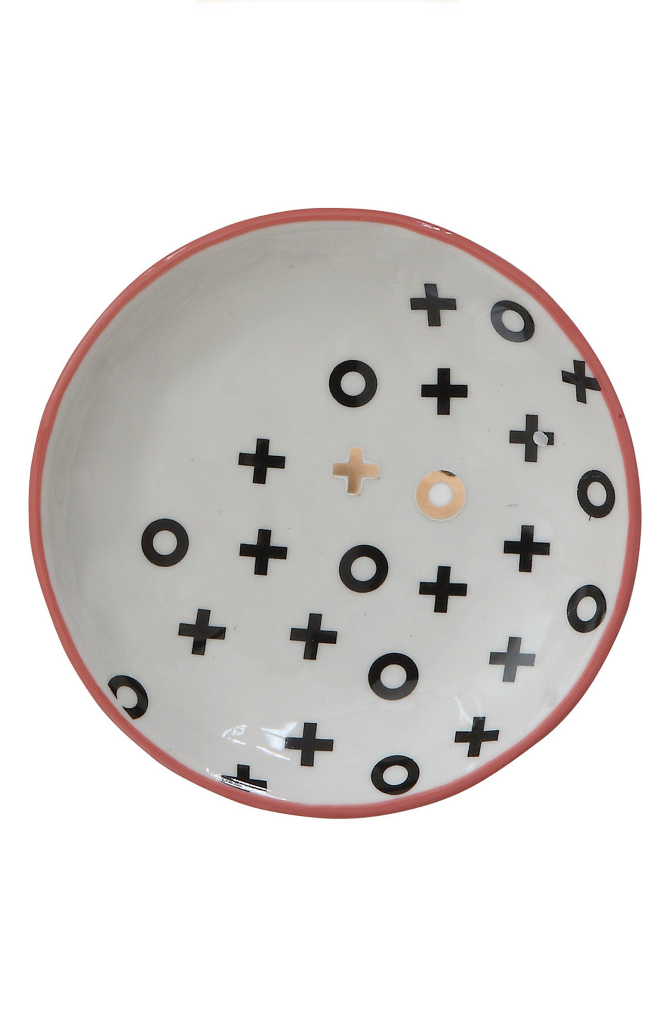 XO Stoneware Plate,                         Main,                         color, 100