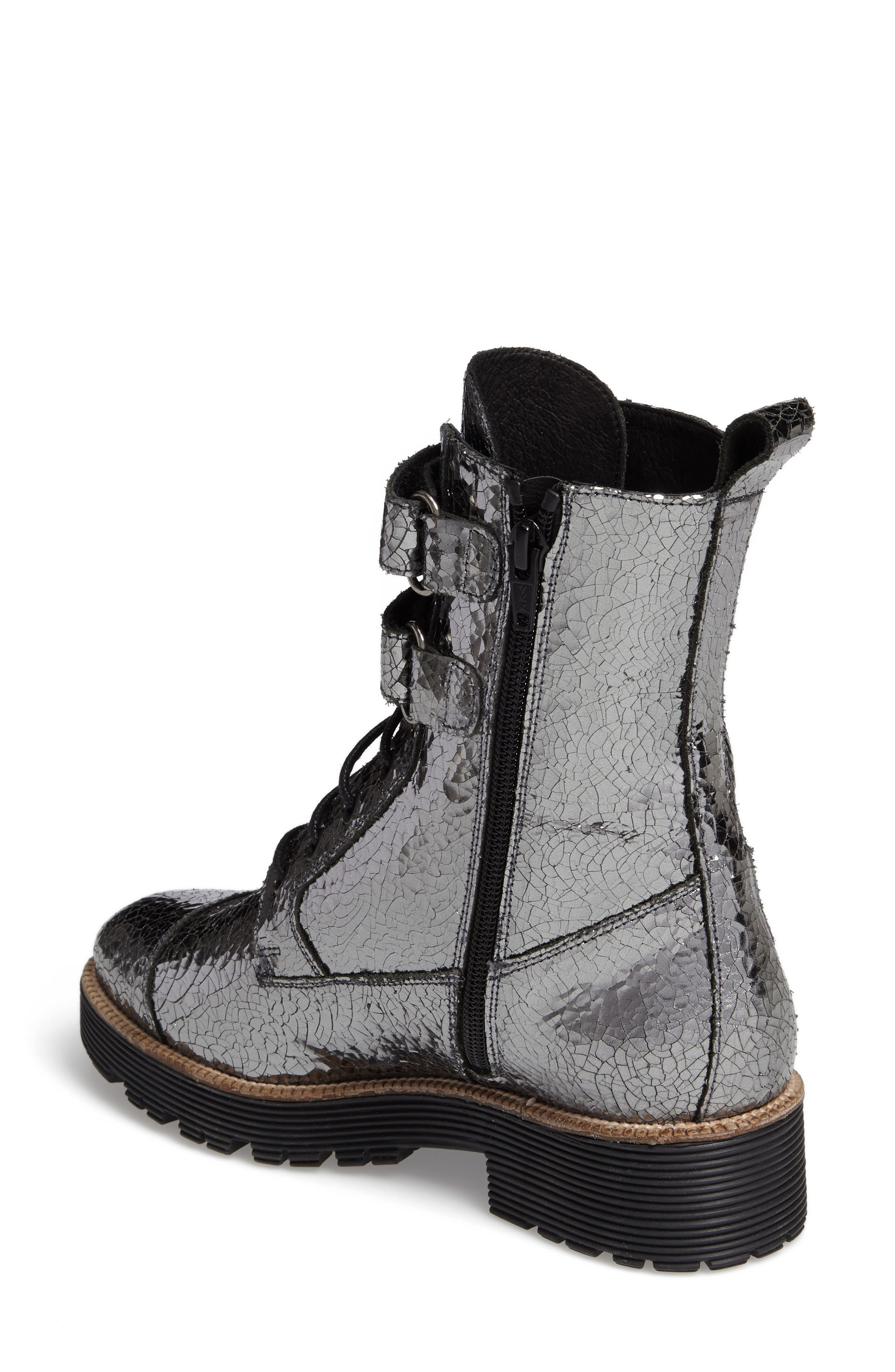 Tyra Combat Boot,                             Alternate thumbnail 4, color,
