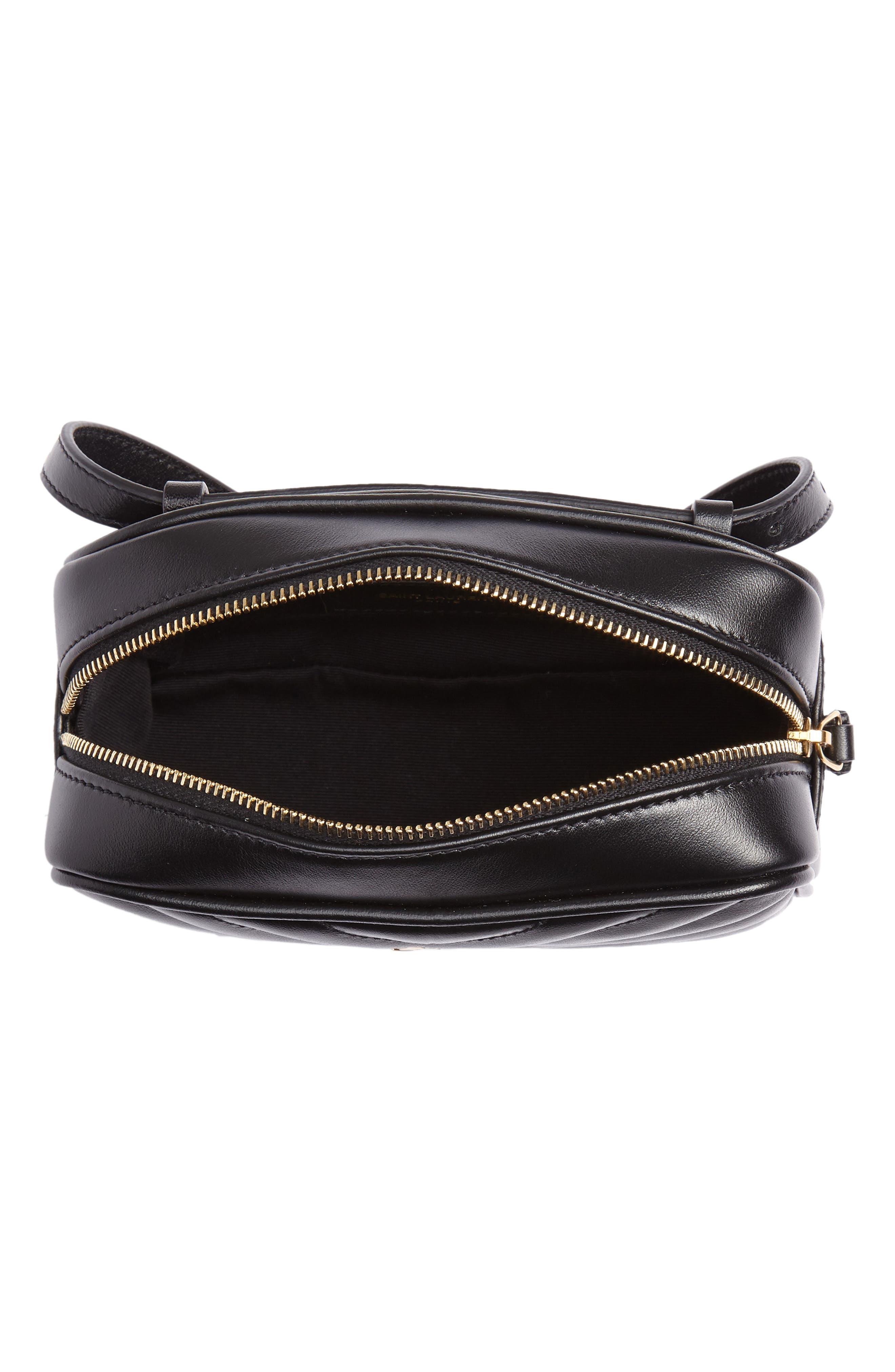 Loulou Matelassé Leather Belt Bag,                             Alternate thumbnail 5, color,                             001