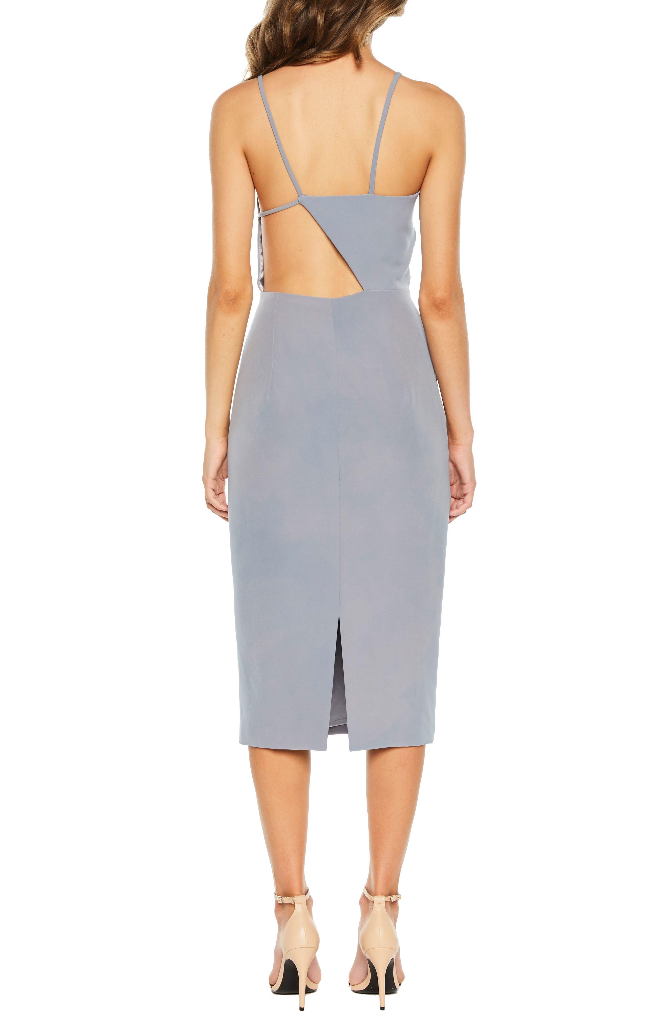 Asymmetrical Open Back Dress,                             Alternate thumbnail 2, color,                             425