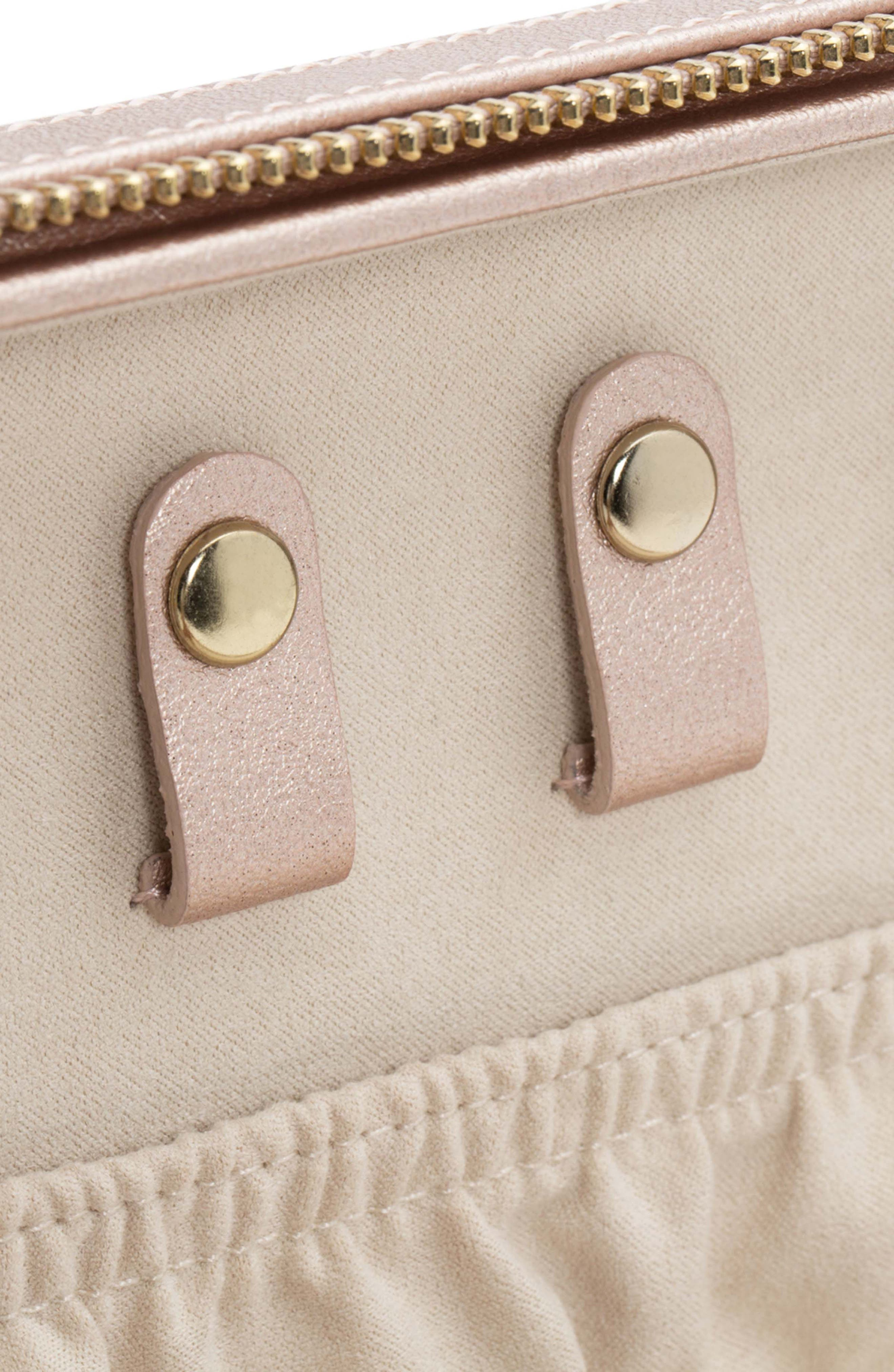 Palermo Zip Jewelry Case,                             Alternate thumbnail 5, color,                             ROSE GOLD