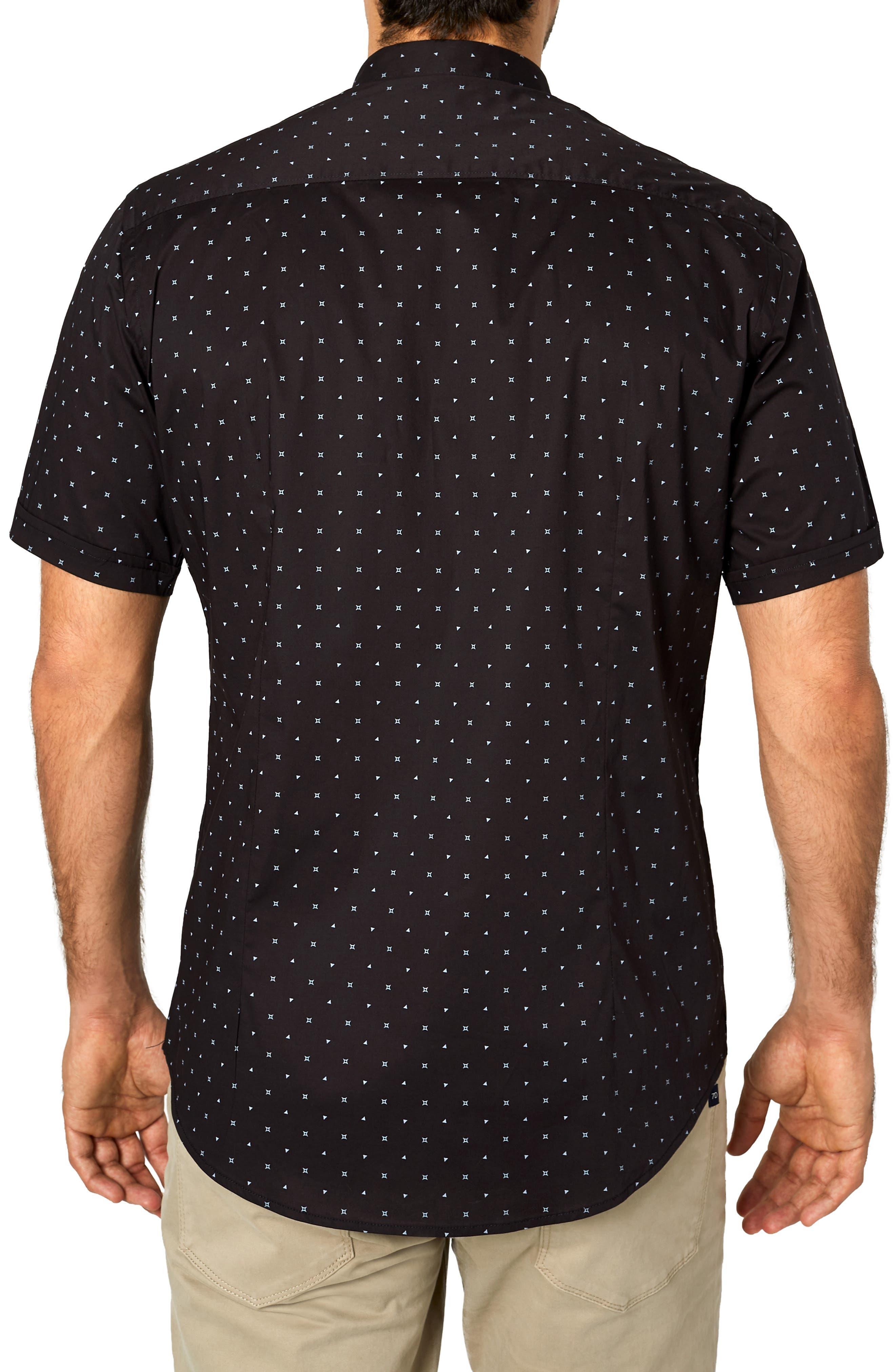 Casual Fiasco Trim Fit Sport Shirt,                             Alternate thumbnail 3, color,                             BLACK