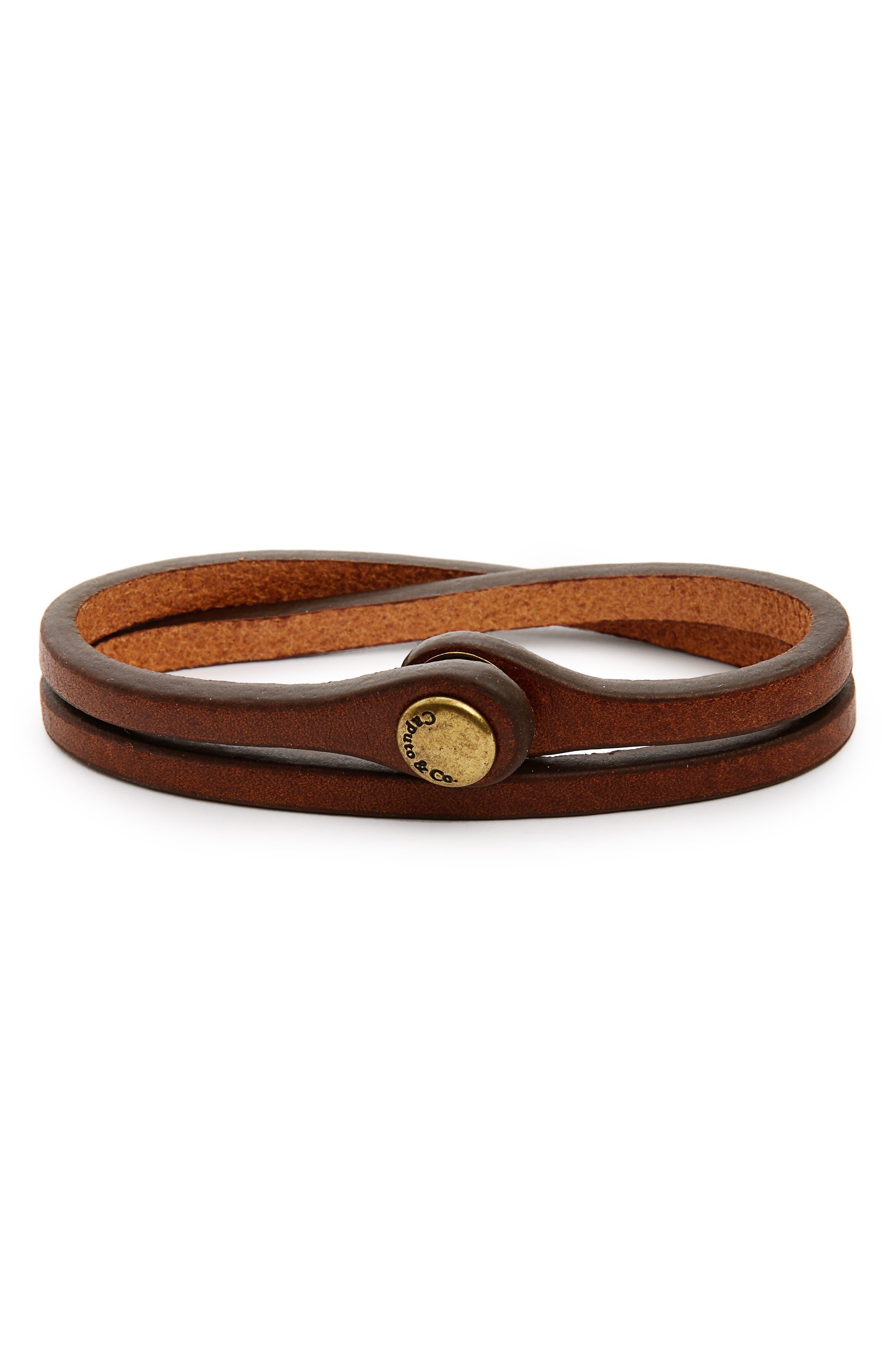 Leather Wrap Bracelet,                         Main,                         color, 250