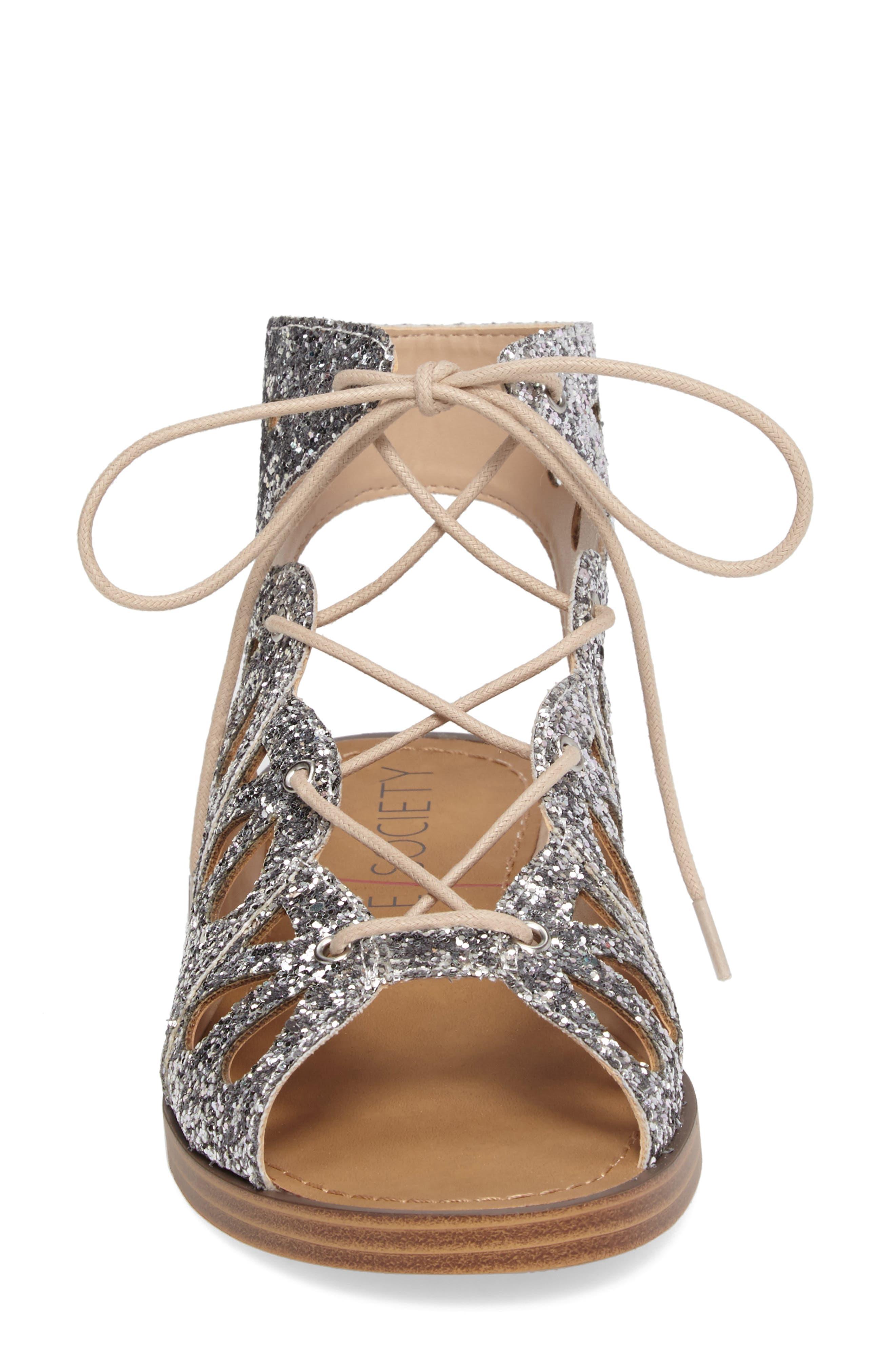 Lylia Glitter Sandal,                             Alternate thumbnail 4, color,                             040