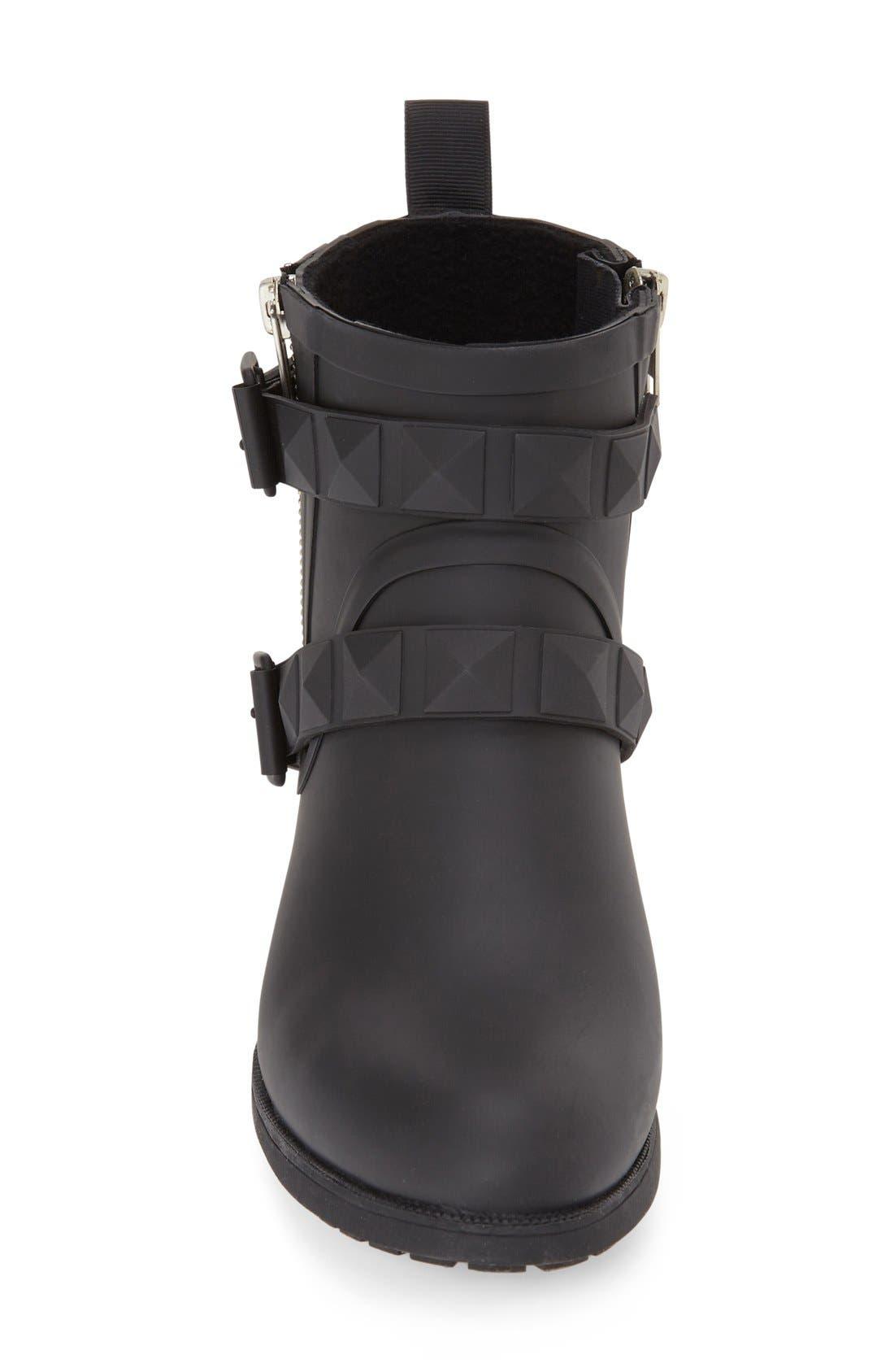 'Quincy' Waterproof Rain Boot,                             Alternate thumbnail 3, color,                             001