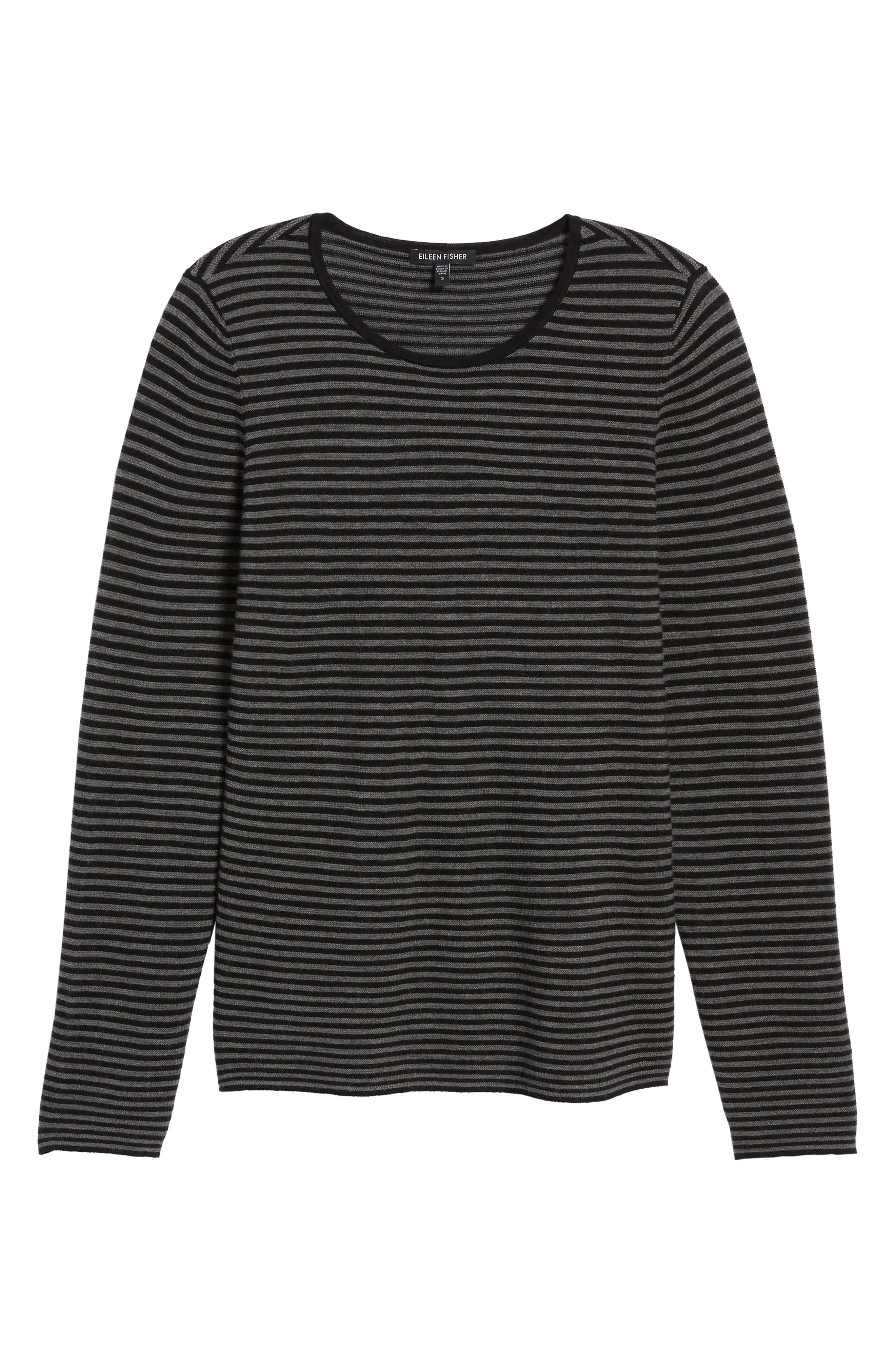Stripe Merino Wool Sweater,                             Alternate thumbnail 6, color,                             028