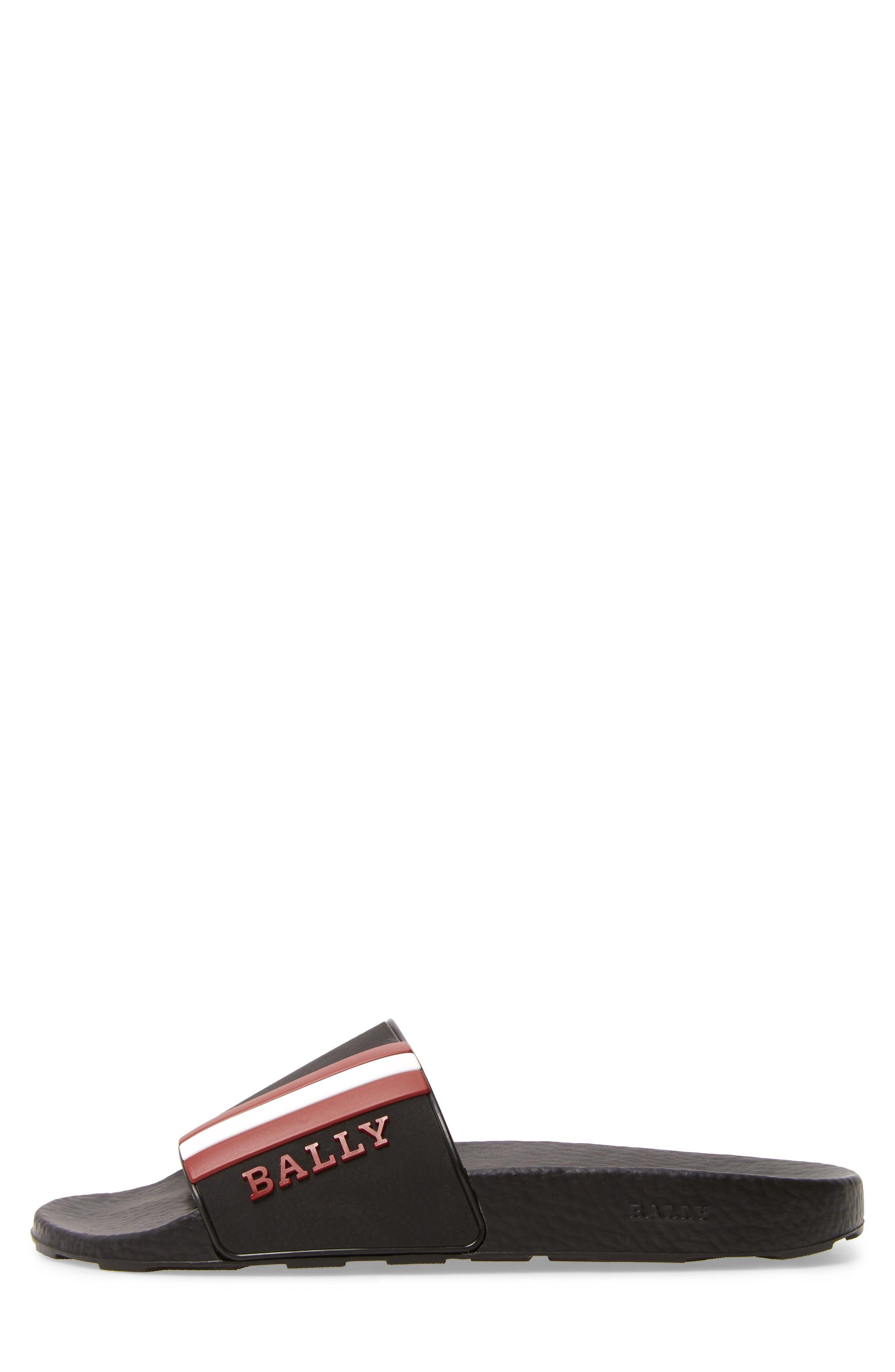 BALLY,                             Saxor Slide Sandal,                             Alternate thumbnail 3, color,                             798