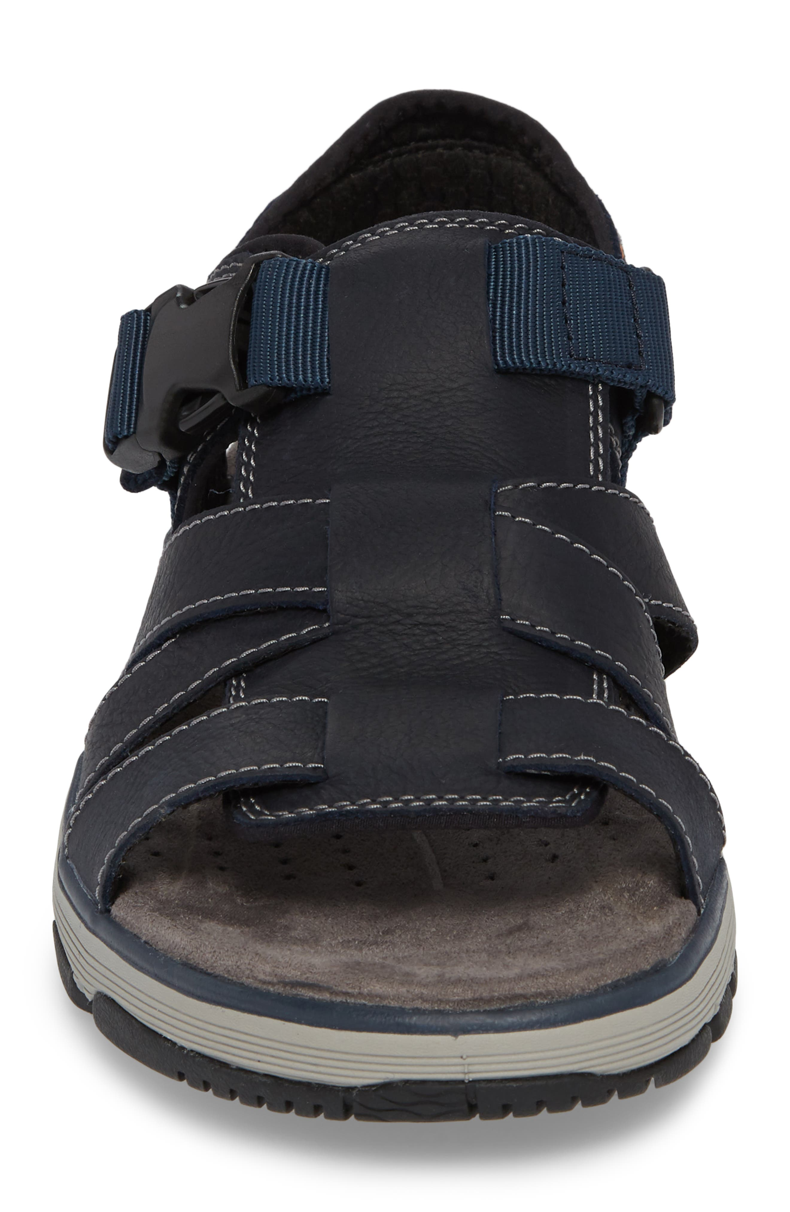Clarks<sup>®</sup> Untrek Cove Fisherman Sandal,                             Alternate thumbnail 8, color,