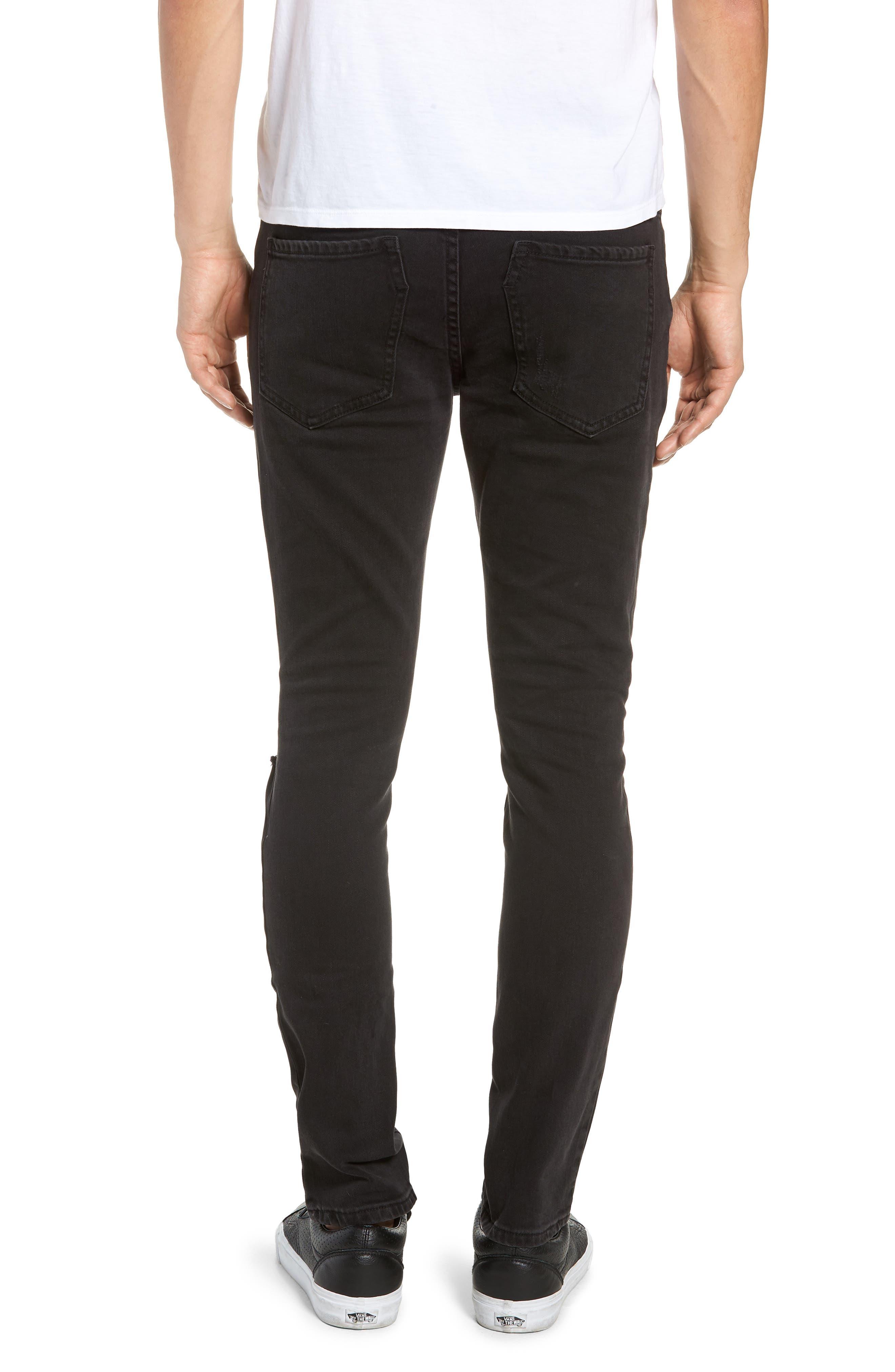 Joe Blow Slim Fit Jeans,                             Alternate thumbnail 2, color,                             BUSTED BLACK