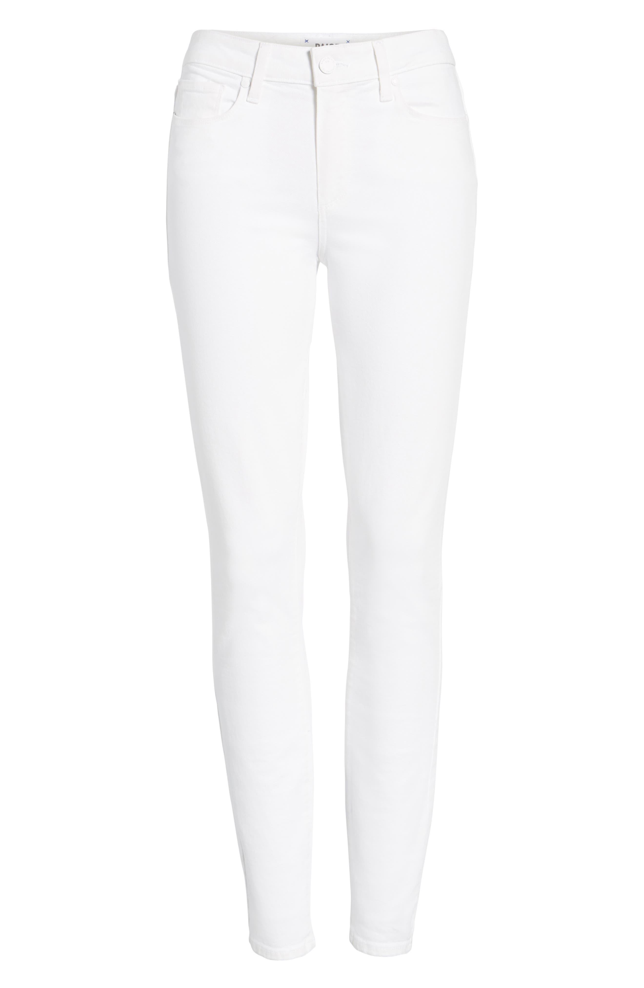 Hoxton High Waist Ankle Skinny Jeans,                             Alternate thumbnail 3, color,                             101