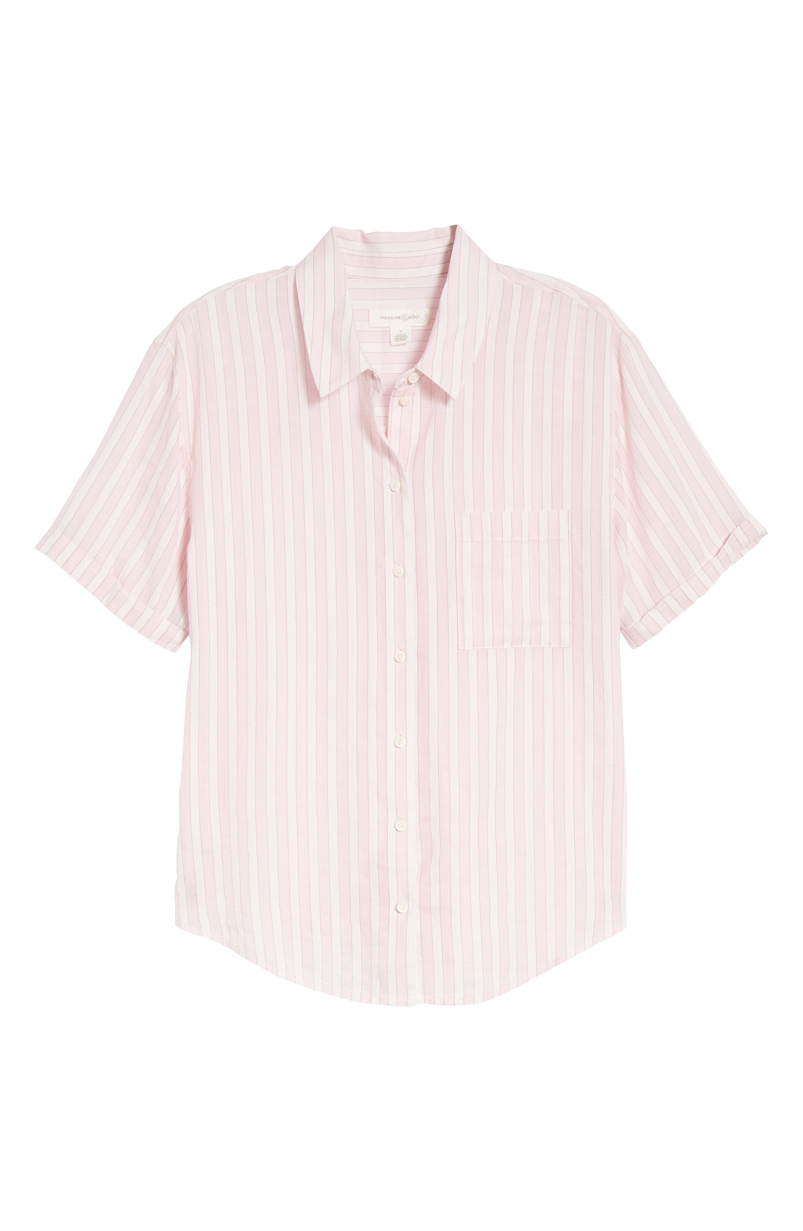 Stripe Shirt,                             Alternate thumbnail 7, color,                             PINK OPAL TAILOR STRIPE