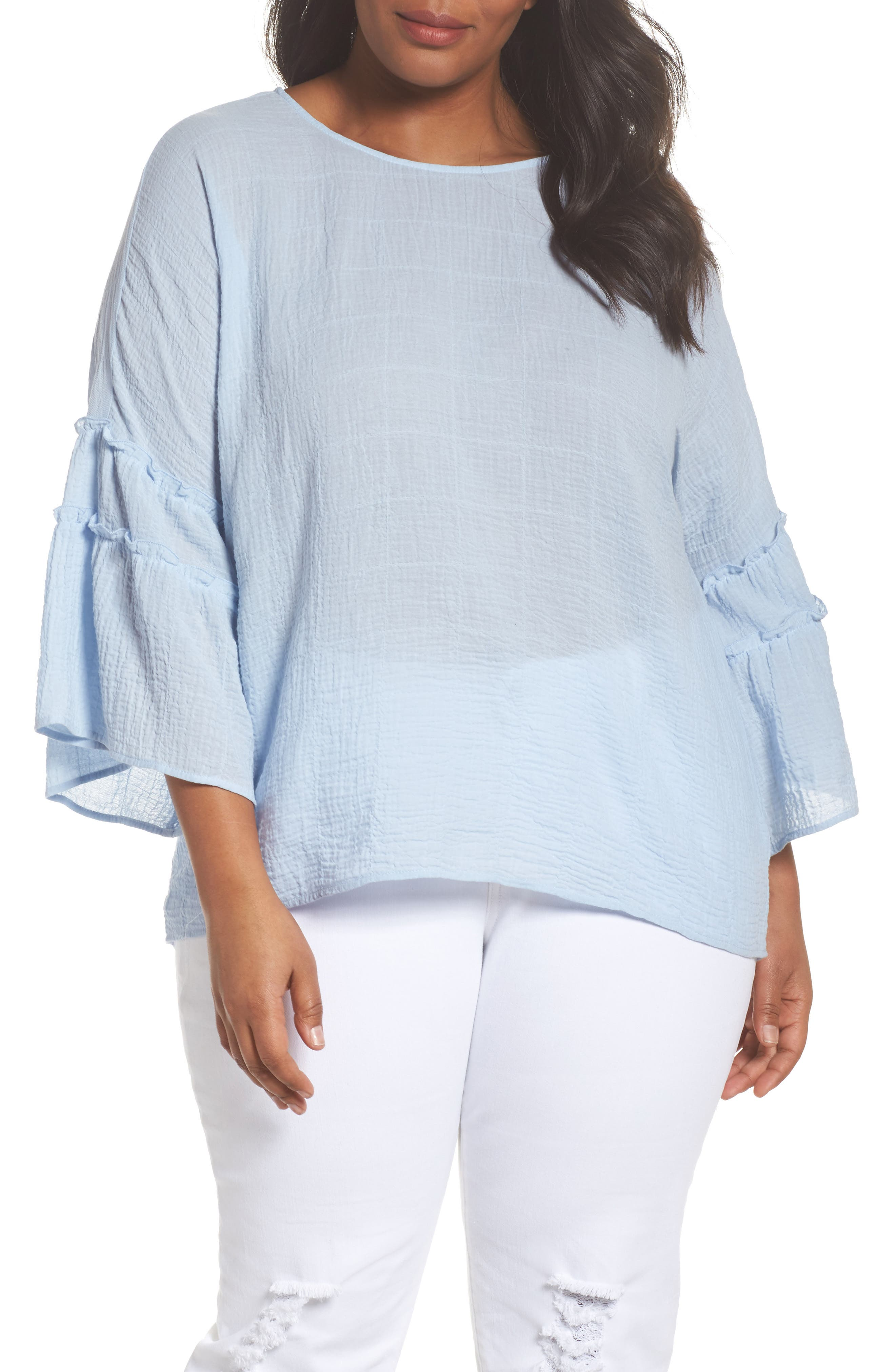 Crinkle Cotton Blouse,                             Main thumbnail 2, color,