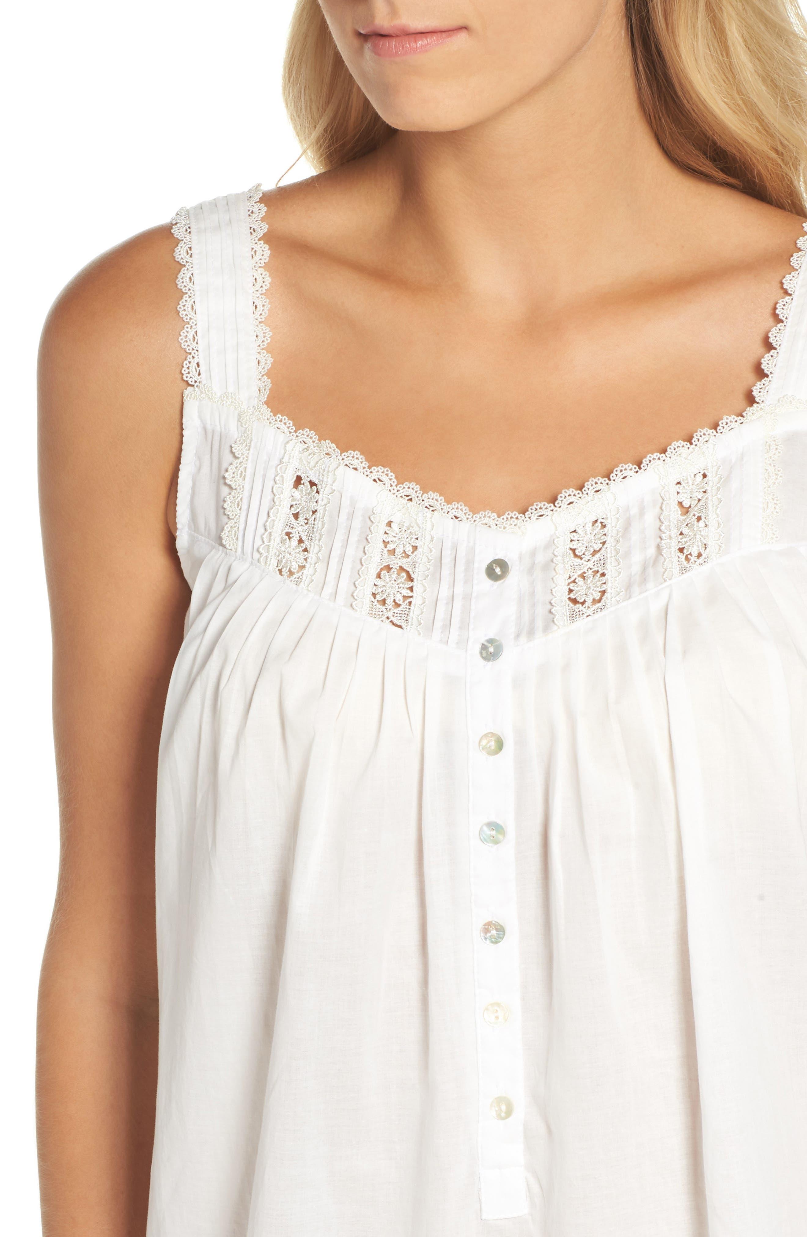 Short Lawn Nightgown,                             Alternate thumbnail 4, color,                             100