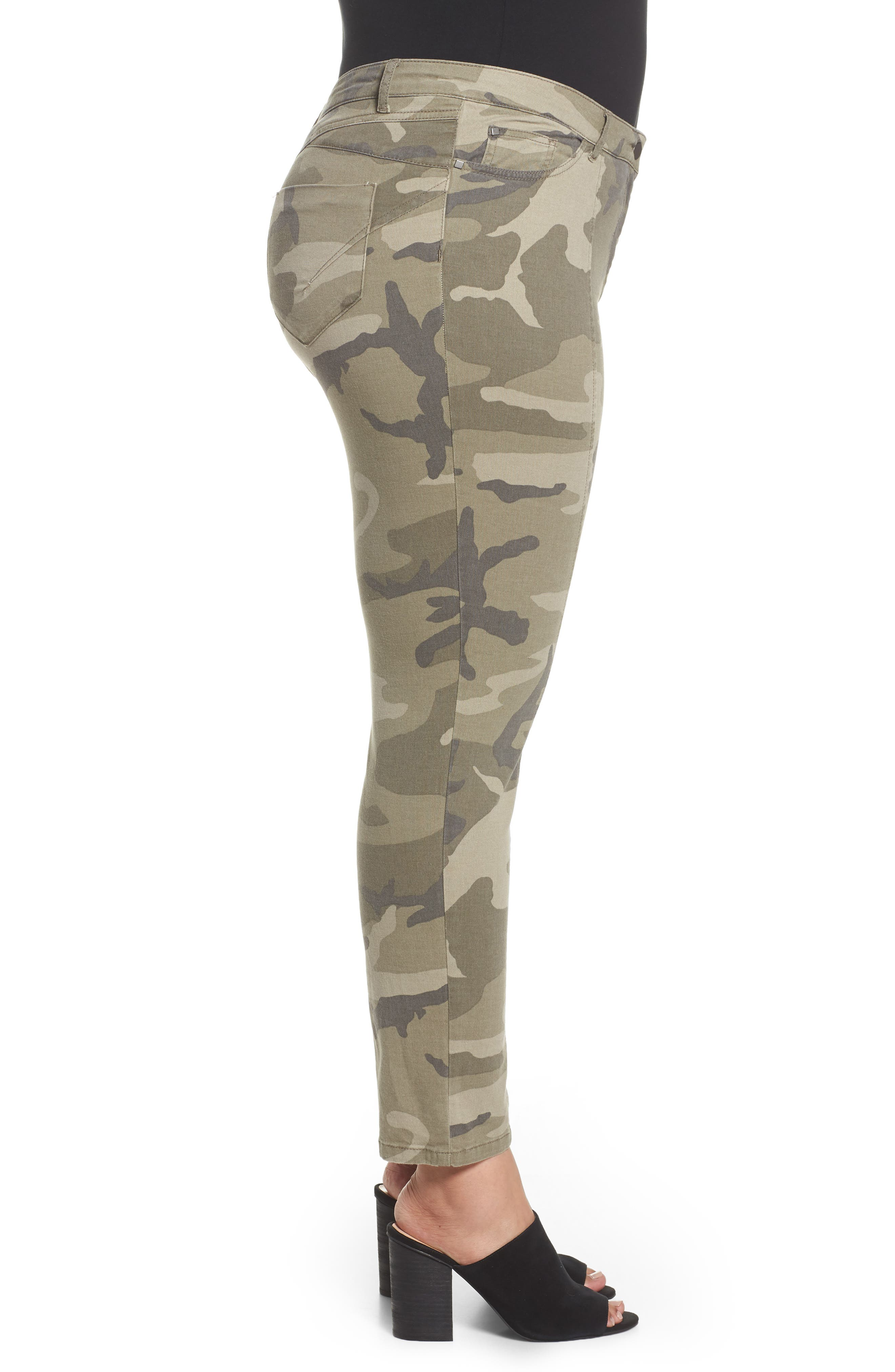 Camo Denim Pants,                             Alternate thumbnail 3, color,                             218