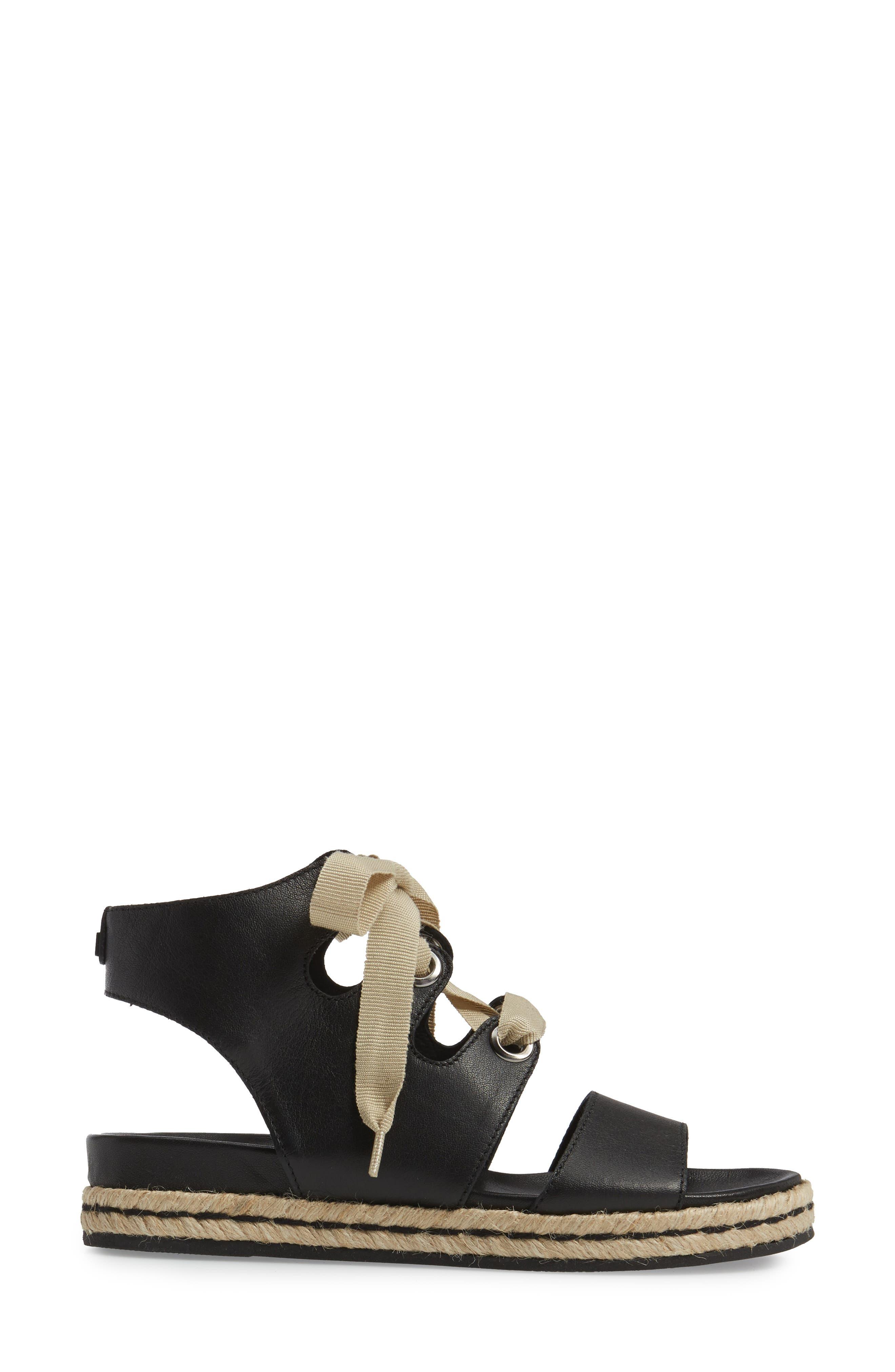 Baptista Lace-Up Sandal,                             Alternate thumbnail 3, color,                             001