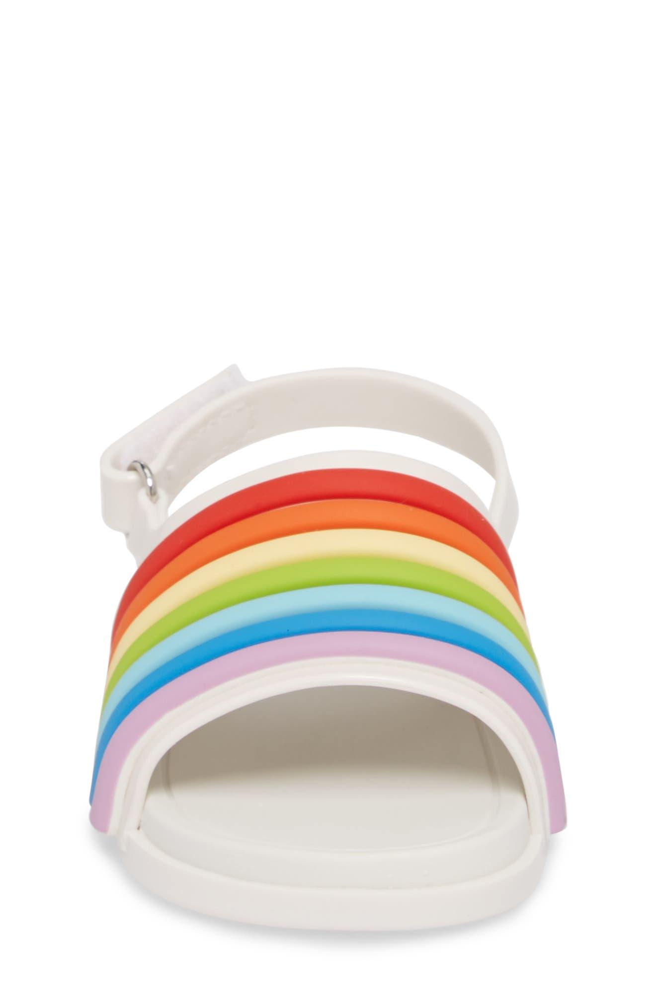 Rainbow Beach Sandal,                             Alternate thumbnail 4, color,                             100