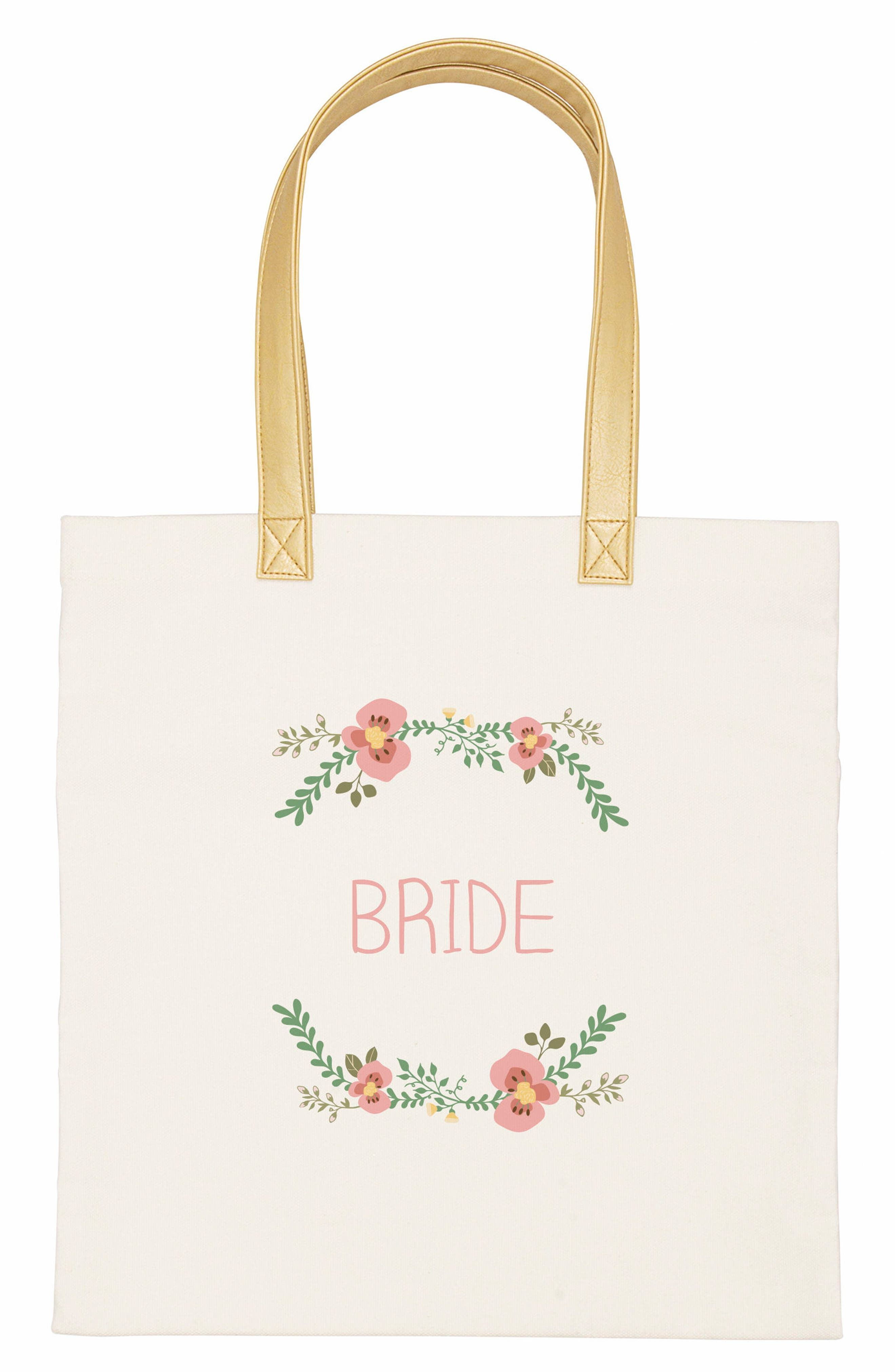 Bridesmaid Canvas Tote,                             Main thumbnail 1, color,                             100