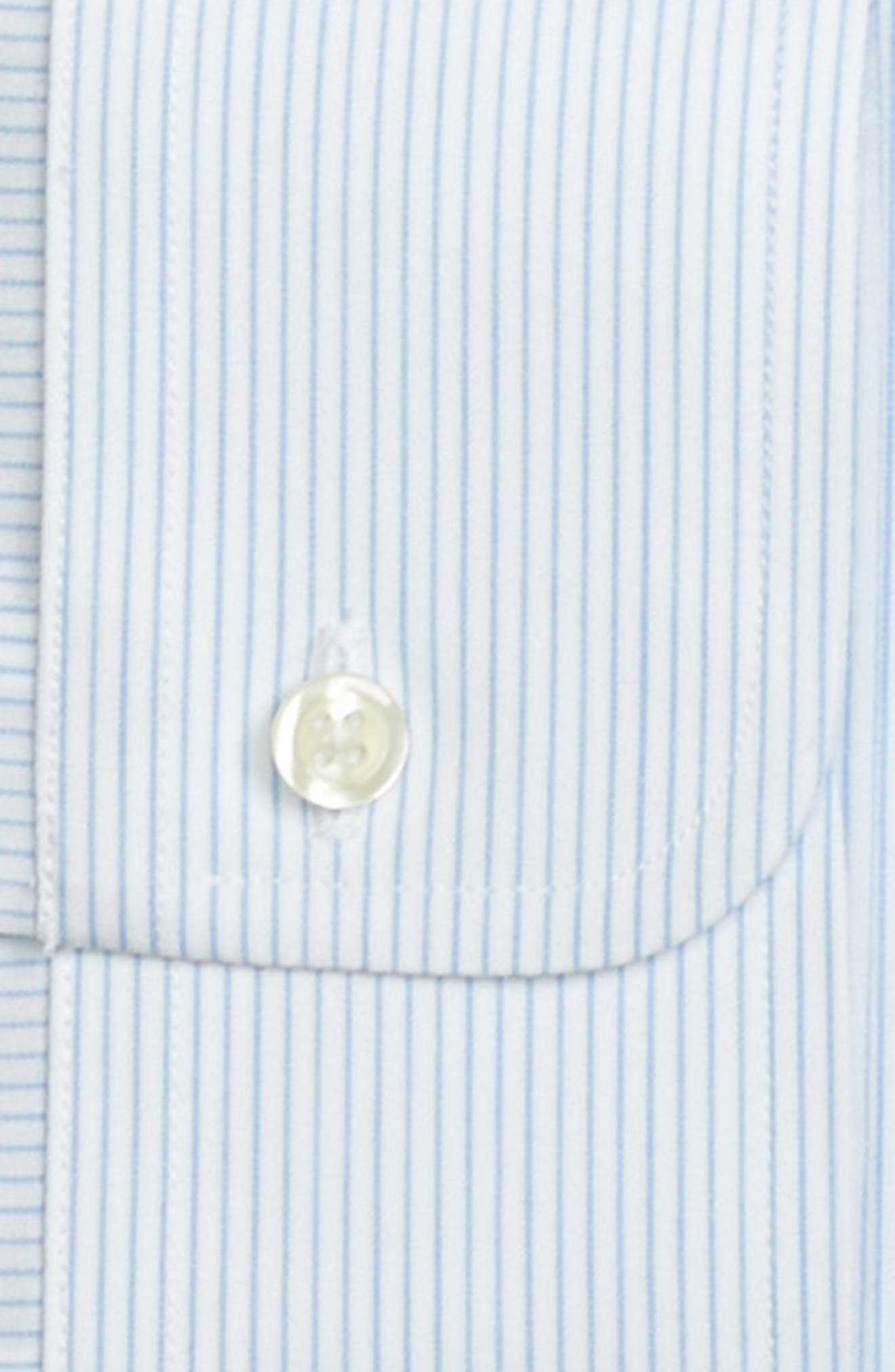 Classic Fit Stripe Dress Shirt,                             Alternate thumbnail 2, color,                             LIGHT/ PASTEL BLUE