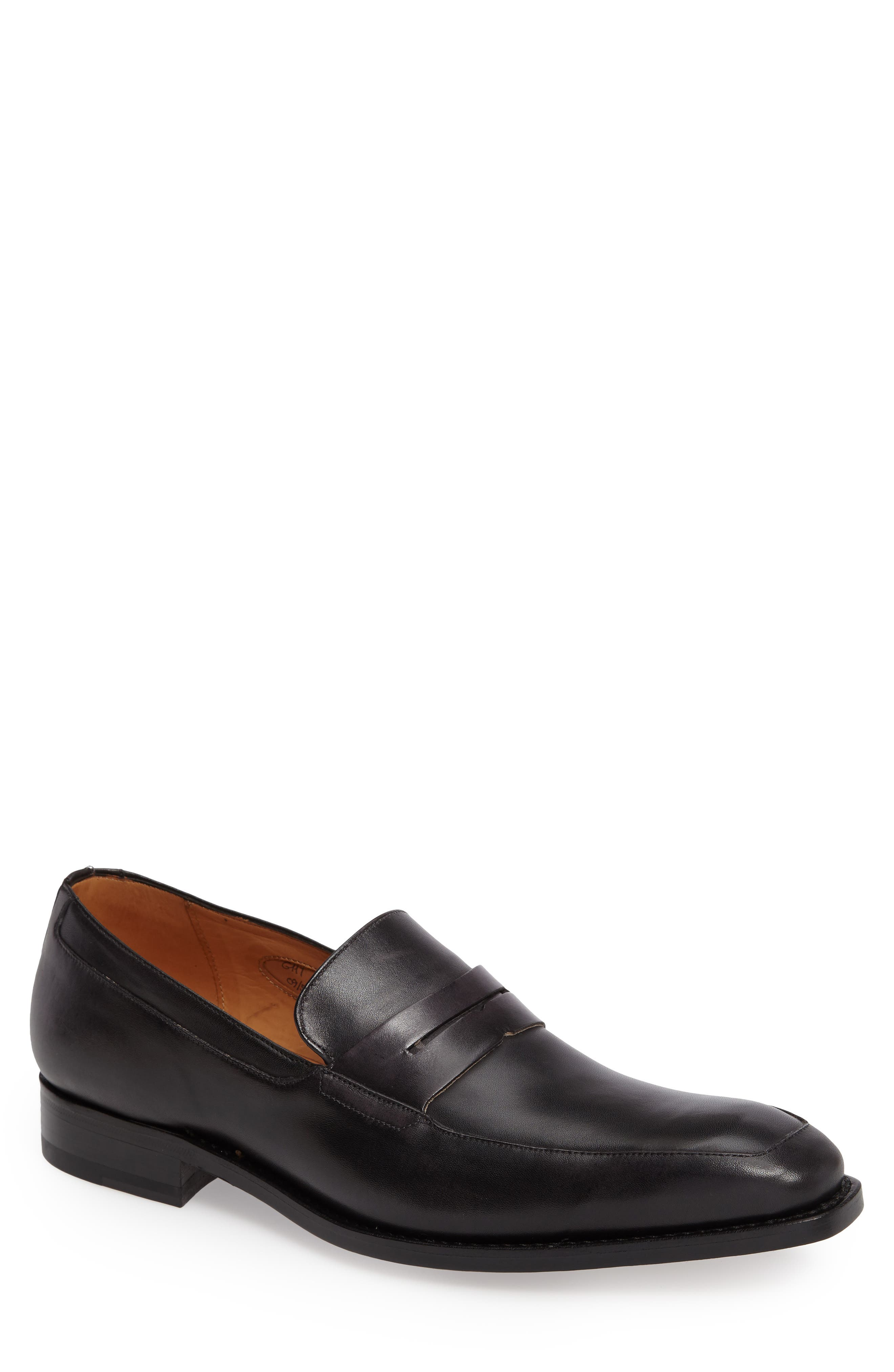 by Mezlan G117 Penny Loafer,                             Main thumbnail 1, color,                             GRAPHITE