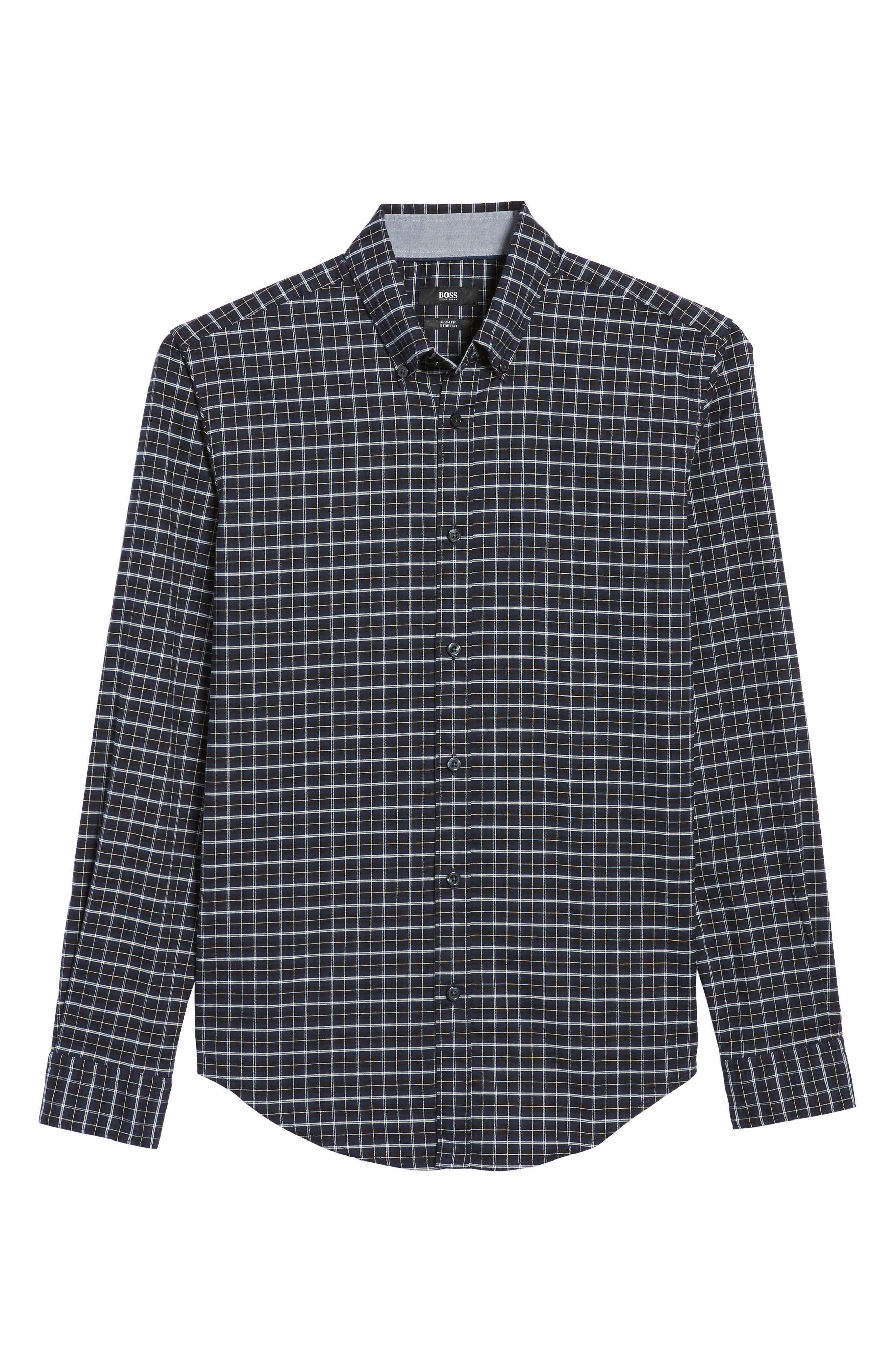 Rod Slim Fit Oxford Check Sport Shirt,                             Alternate thumbnail 6, color,                             410