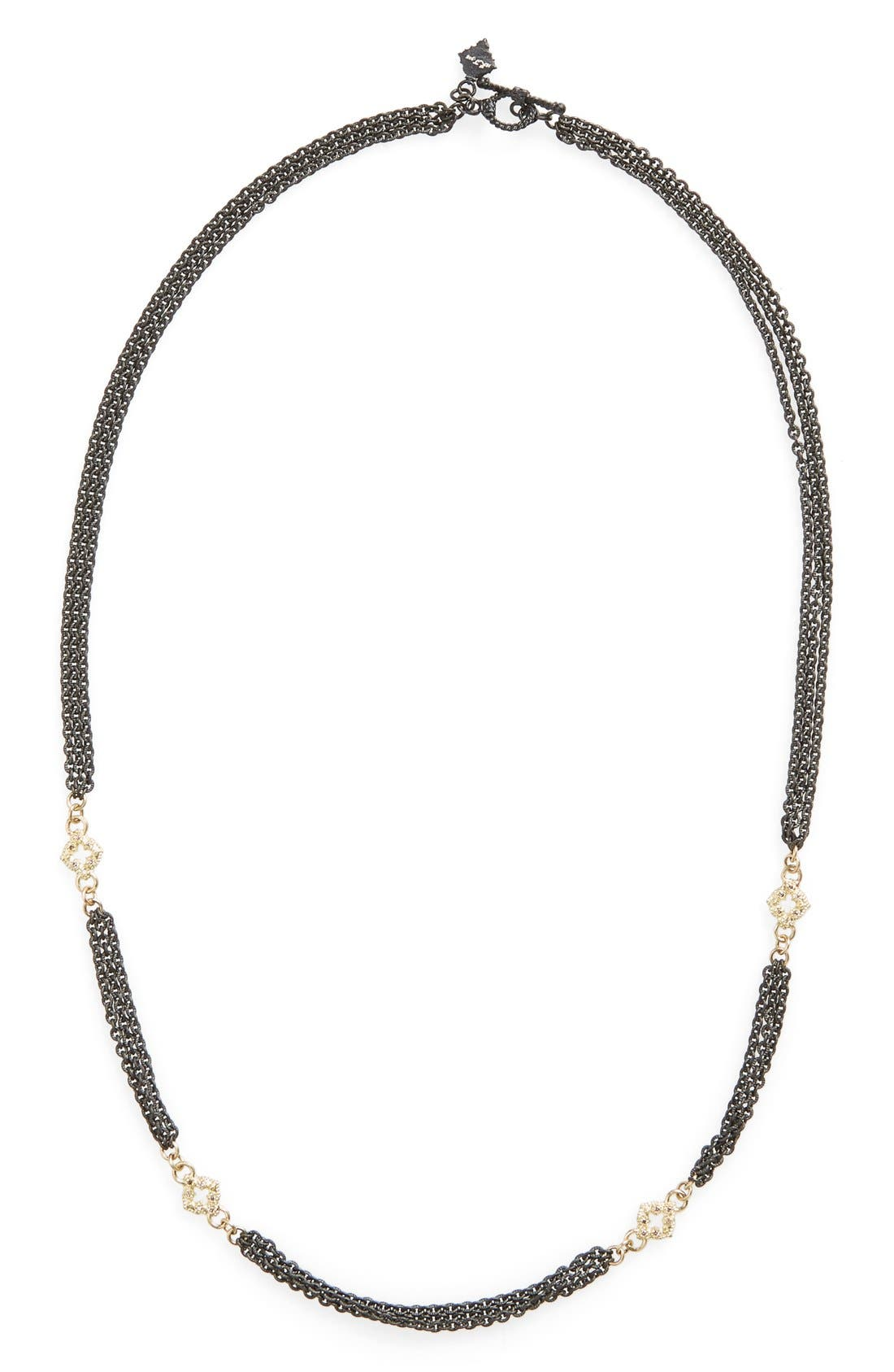 New World Strand Necklace,                         Main,                         color, GOLD