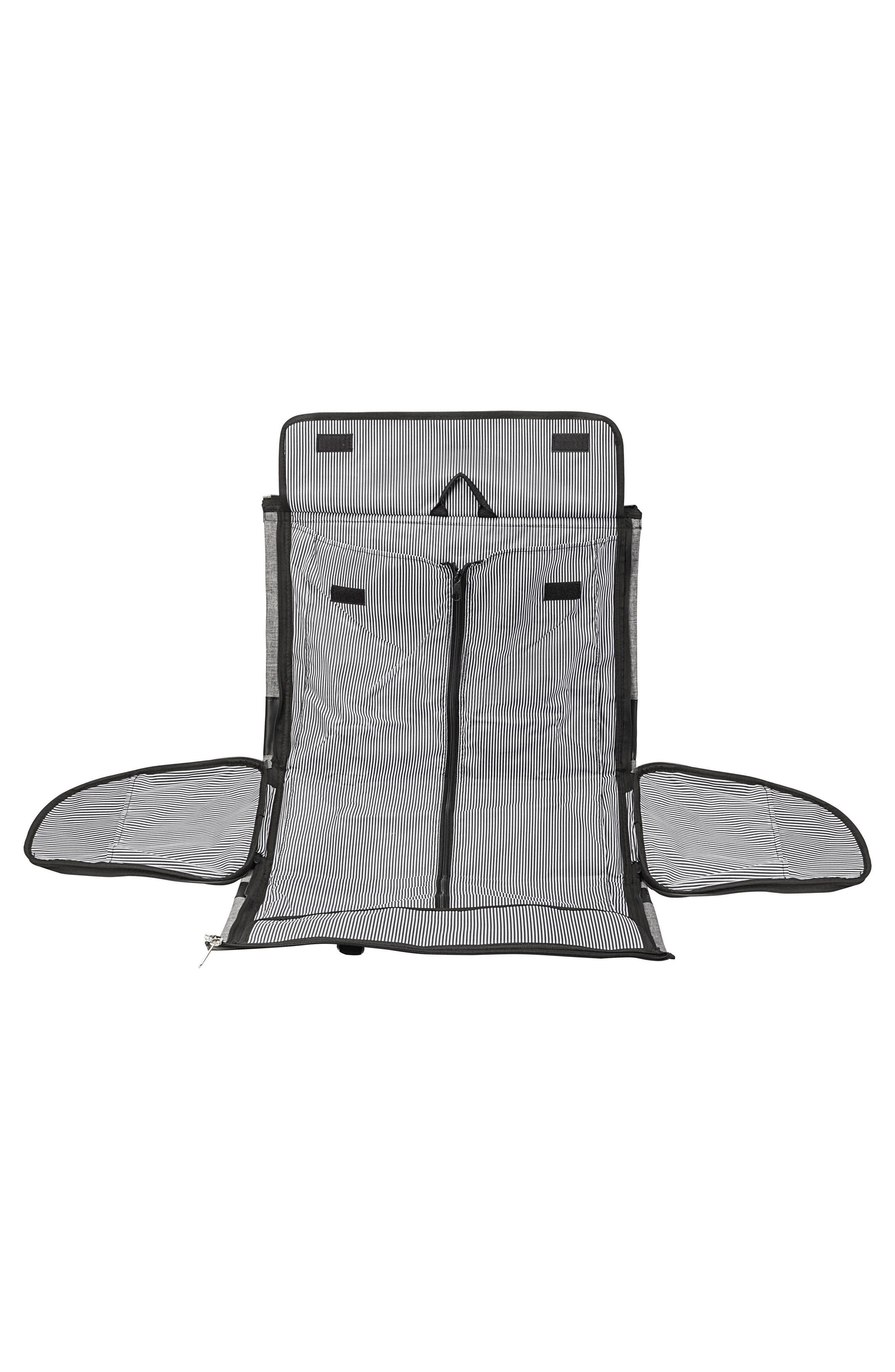 Monogram Duffel/Garment Bag,                             Alternate thumbnail 8, color,                             GREY A