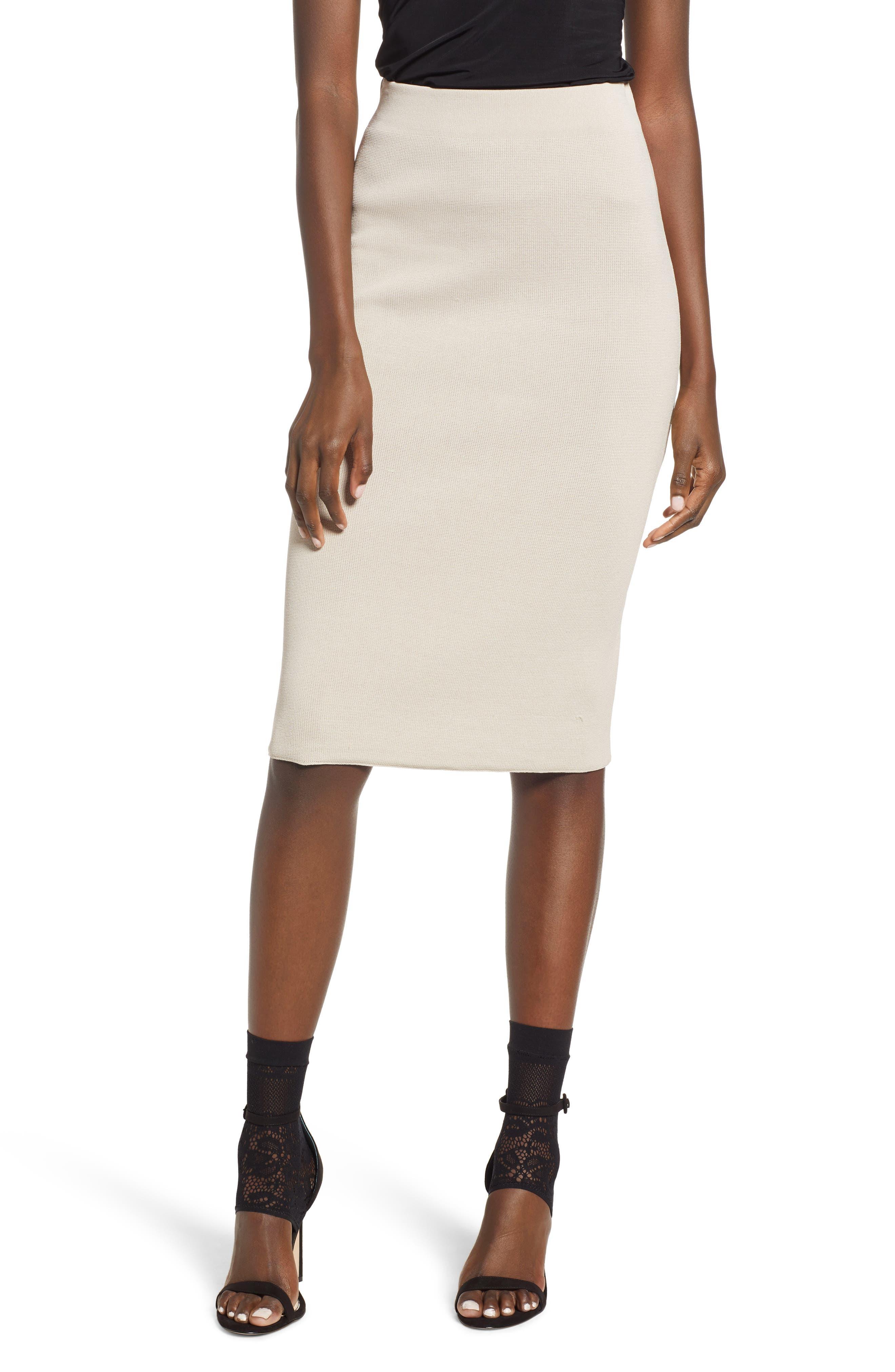 Prima Midi Skirt, Beige