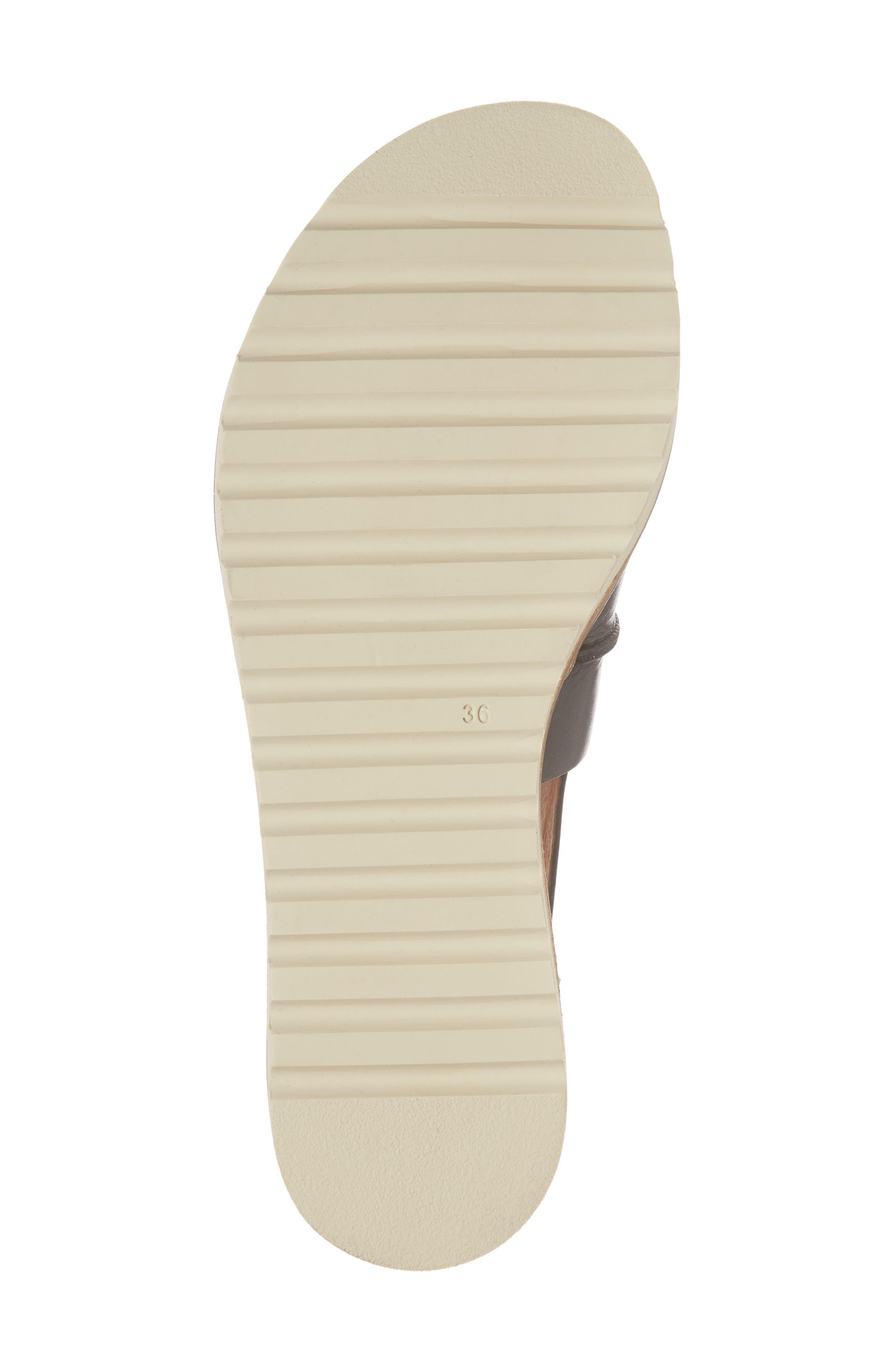 Alcudia Lace-Up Sandal,                             Alternate thumbnail 6, color,                             BLACK LEATHER