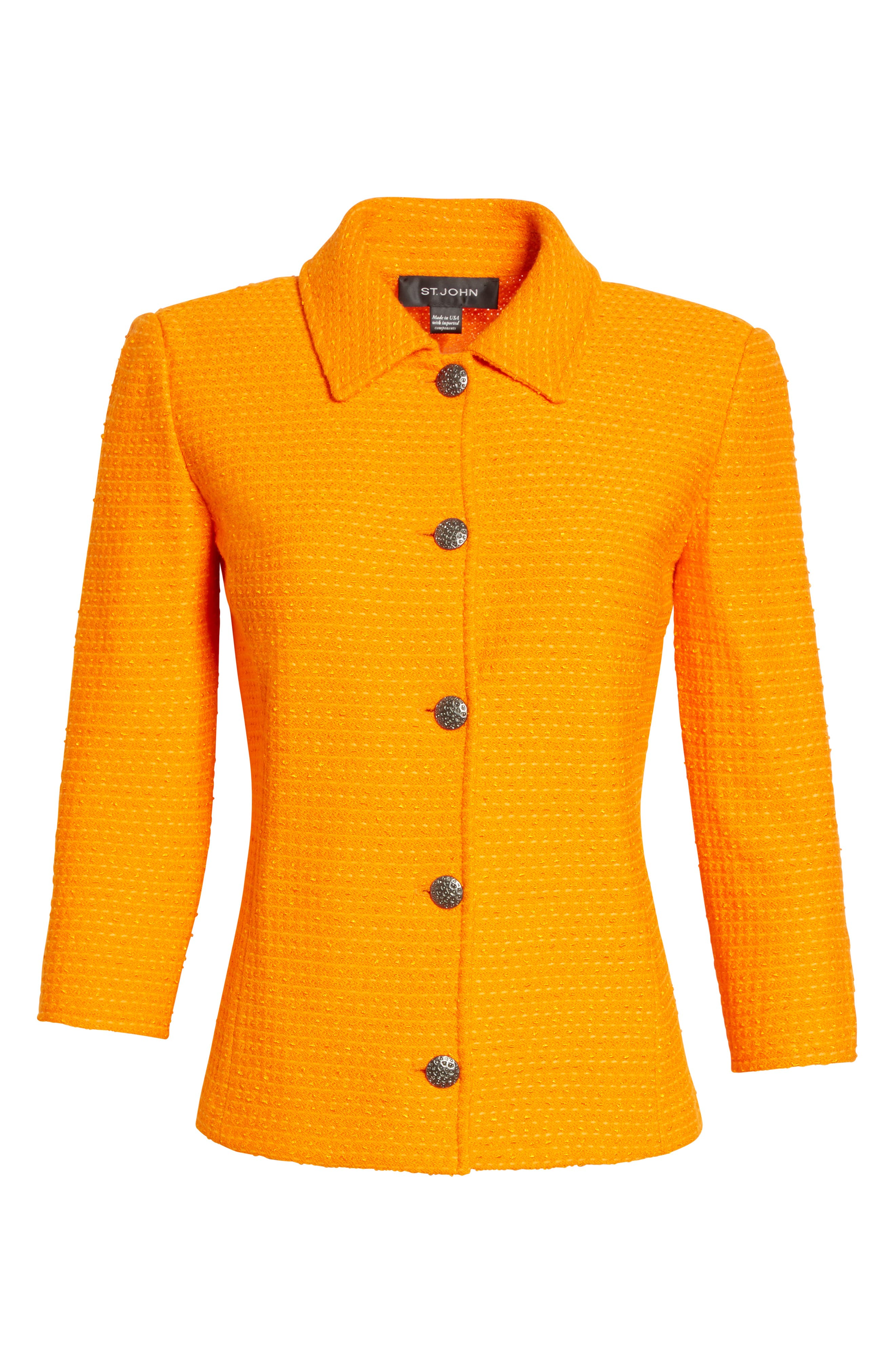 Ribbon Texture Knit Jacket,                             Alternate thumbnail 6, color,                             820