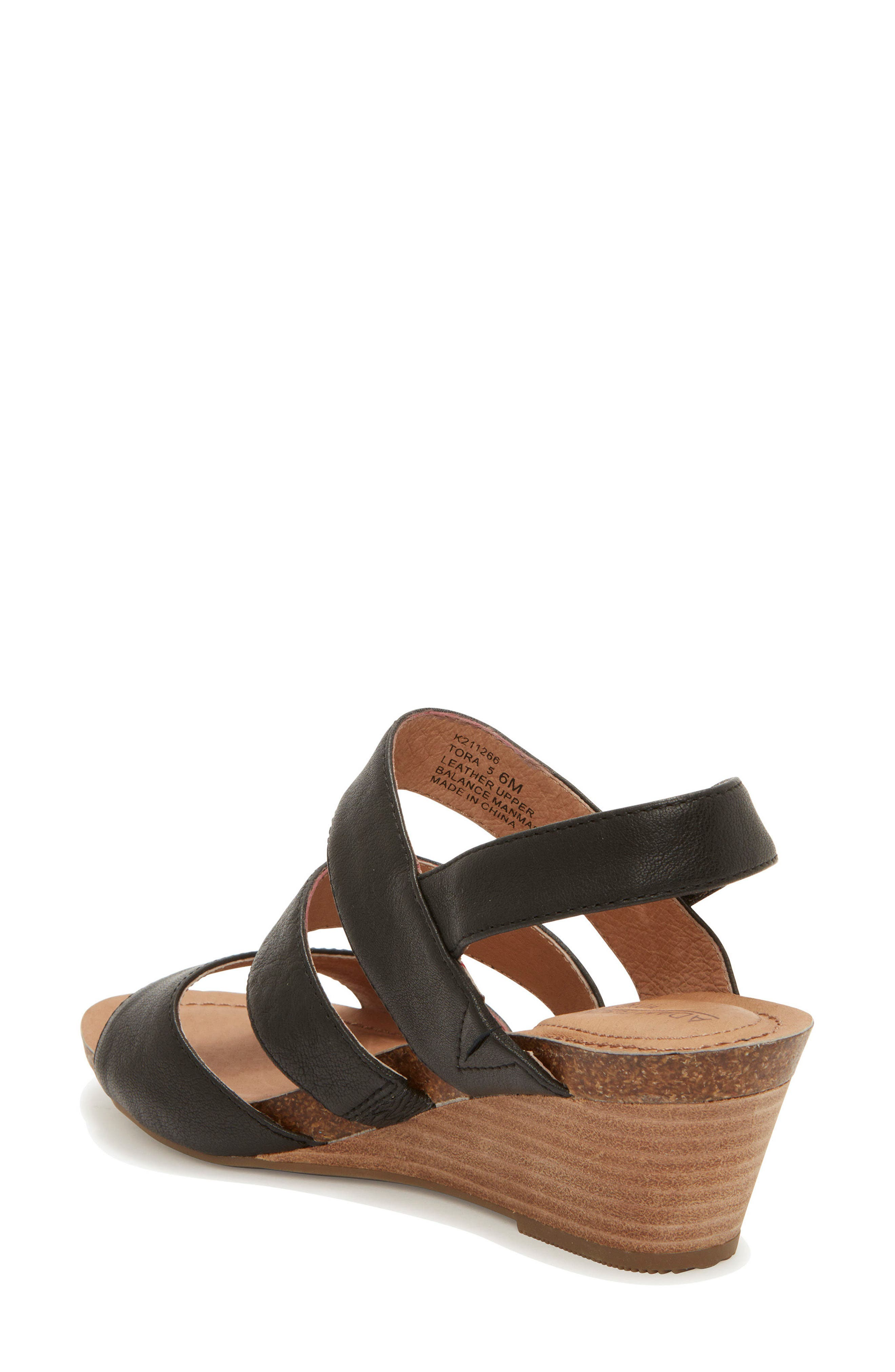 Adam Tucker Tora Wedge Sandal,                             Alternate thumbnail 3, color,