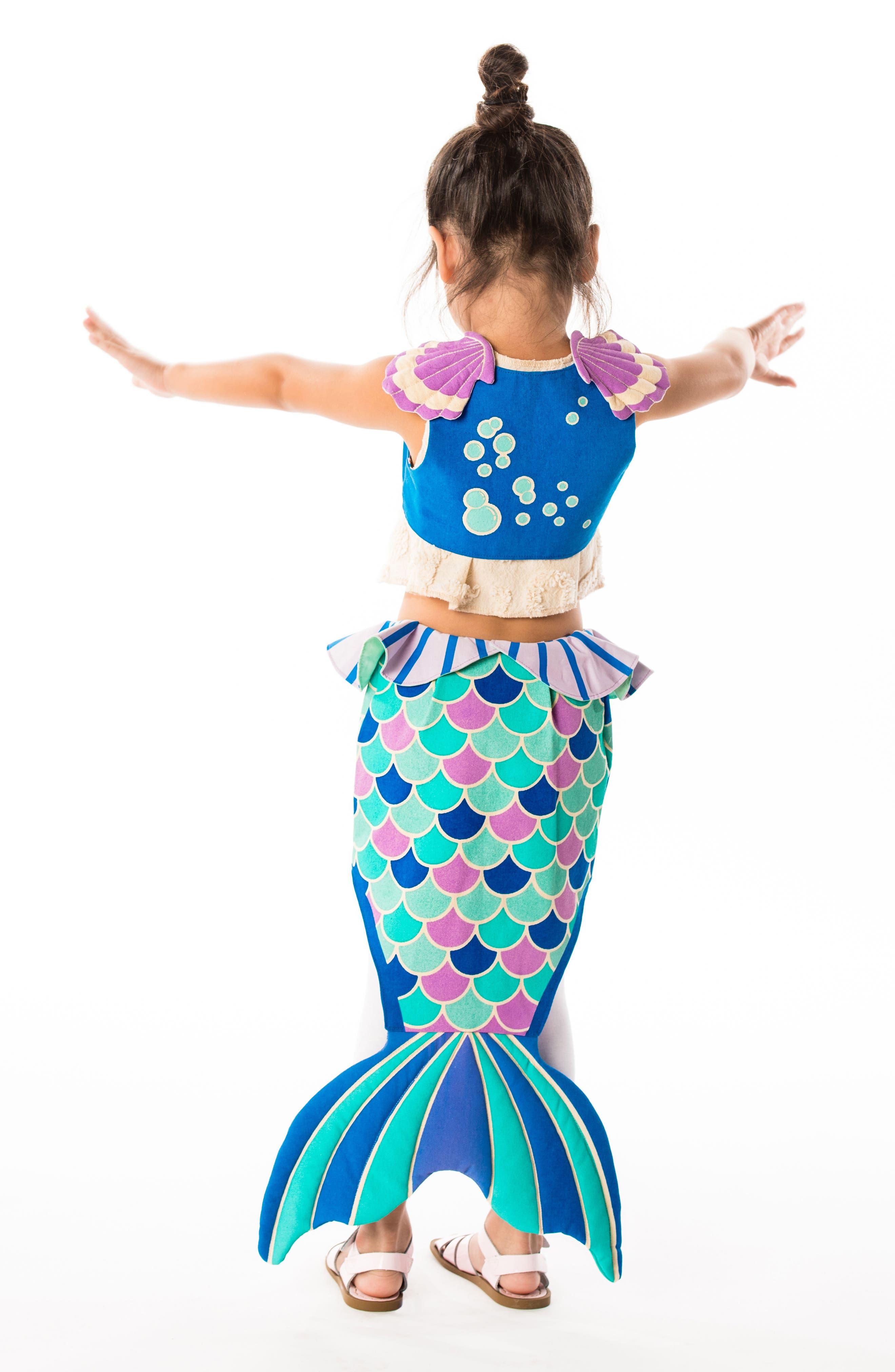 LOVELANE,                             Mermaid Costume Set,                             Alternate thumbnail 6, color,                             400
