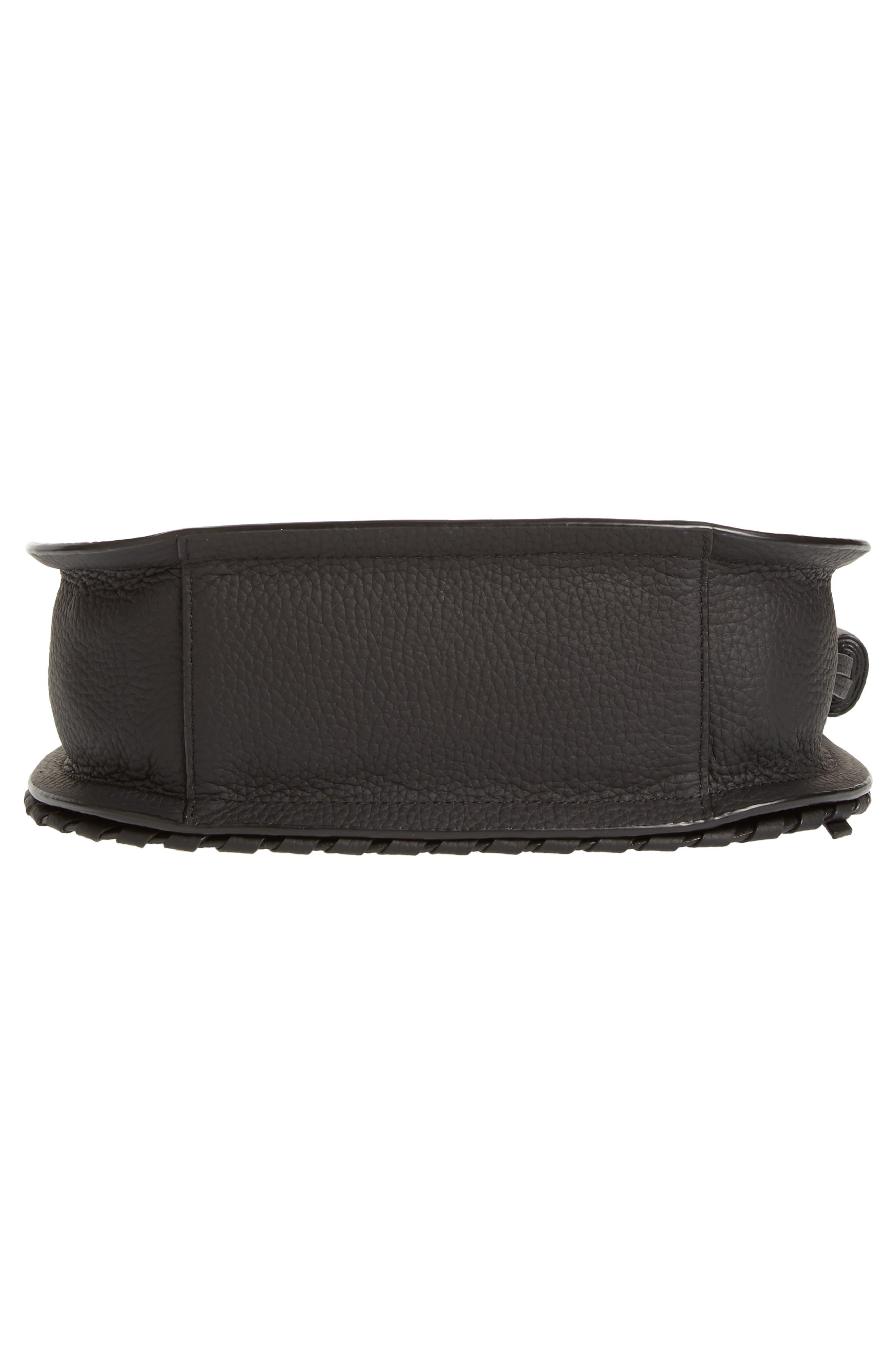 Mori Leather Crossbody Bag,                             Alternate thumbnail 6, color,                             BLACK