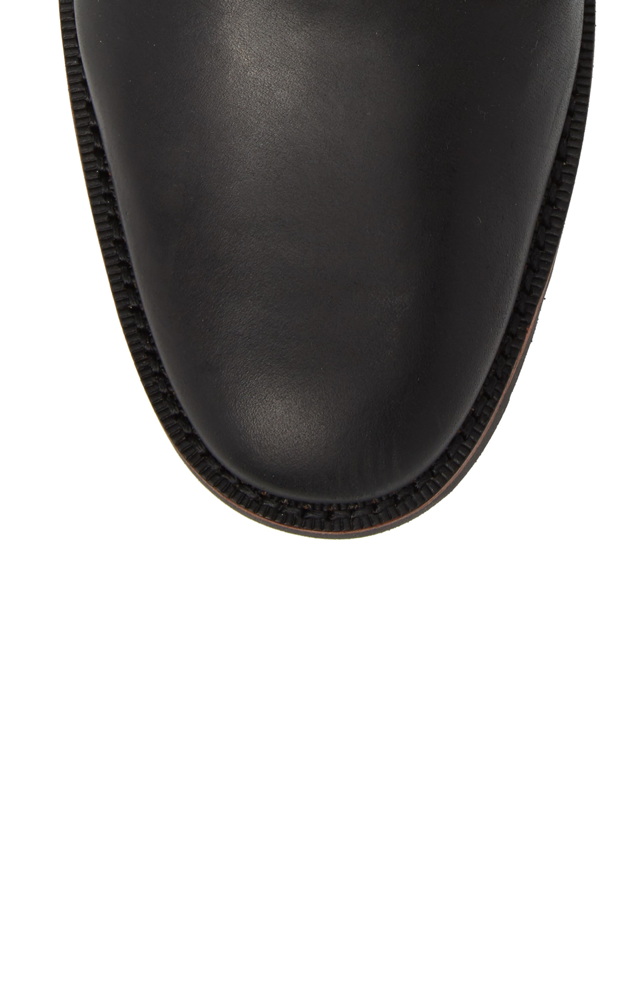 Kendrick Side Zip Leather Boot,                             Alternate thumbnail 5, color,                             001
