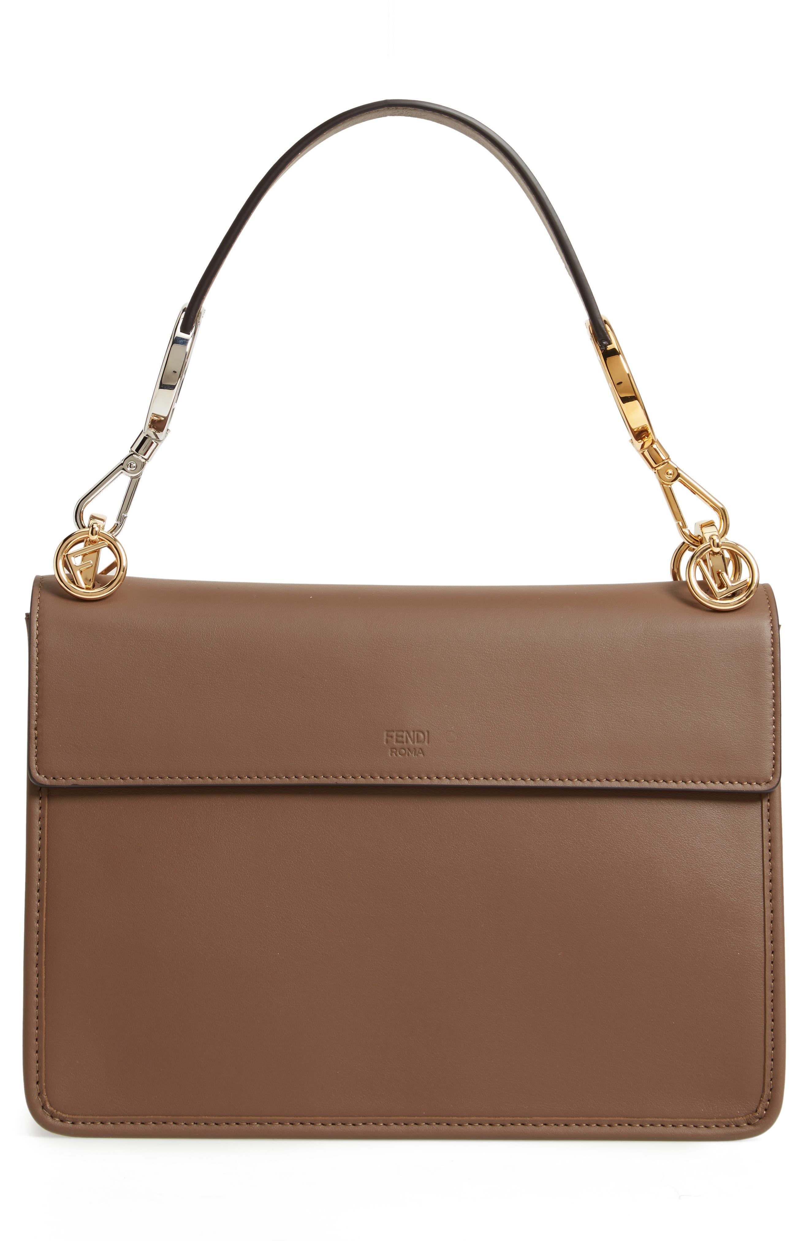 Kan I Calfskin Leather Shoulder Bag,                             Alternate thumbnail 4, color,                             MAYA/ ORO SOFT