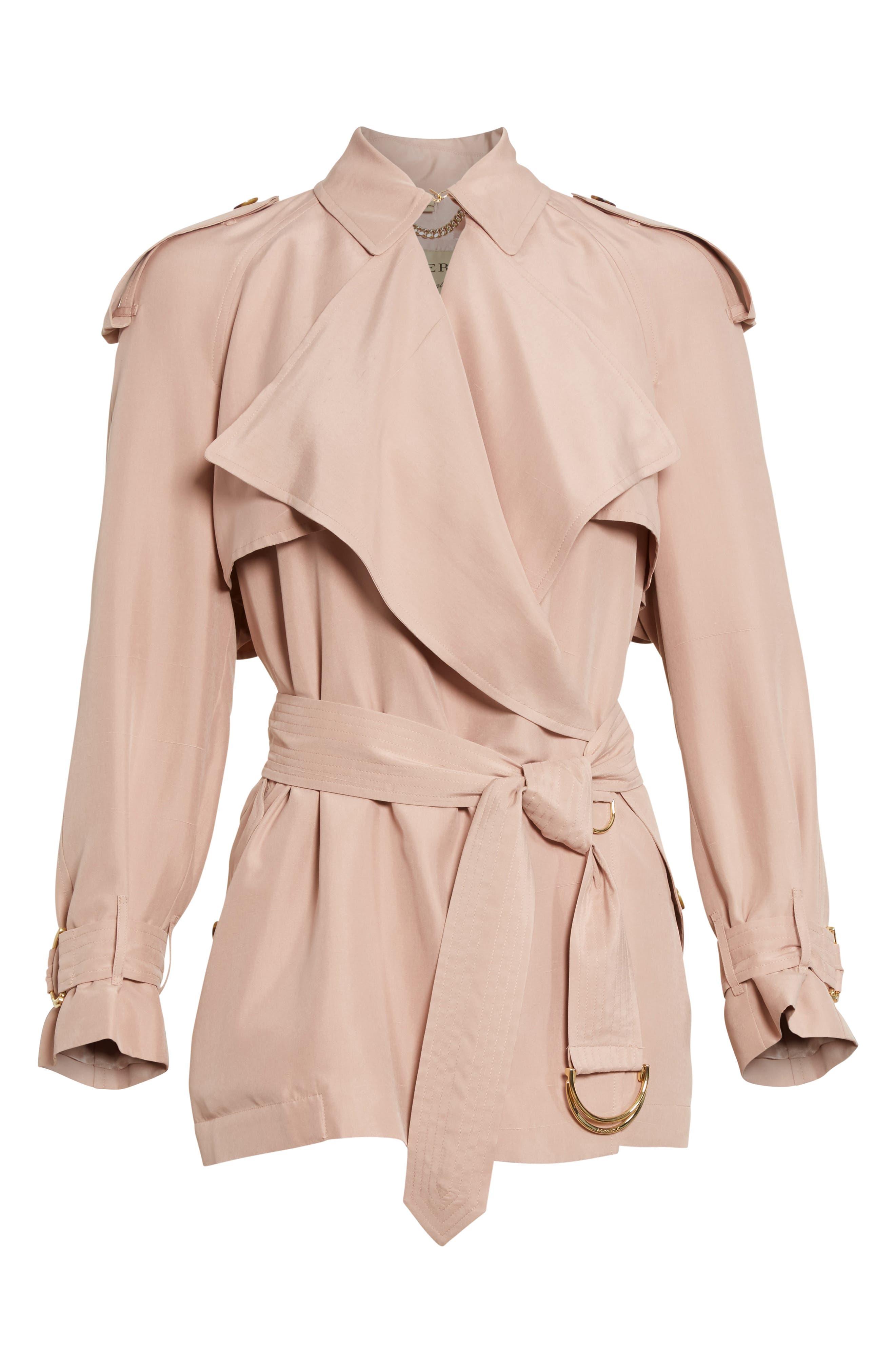 Sanbridge Silk Wrap Coat,                             Alternate thumbnail 4, color,